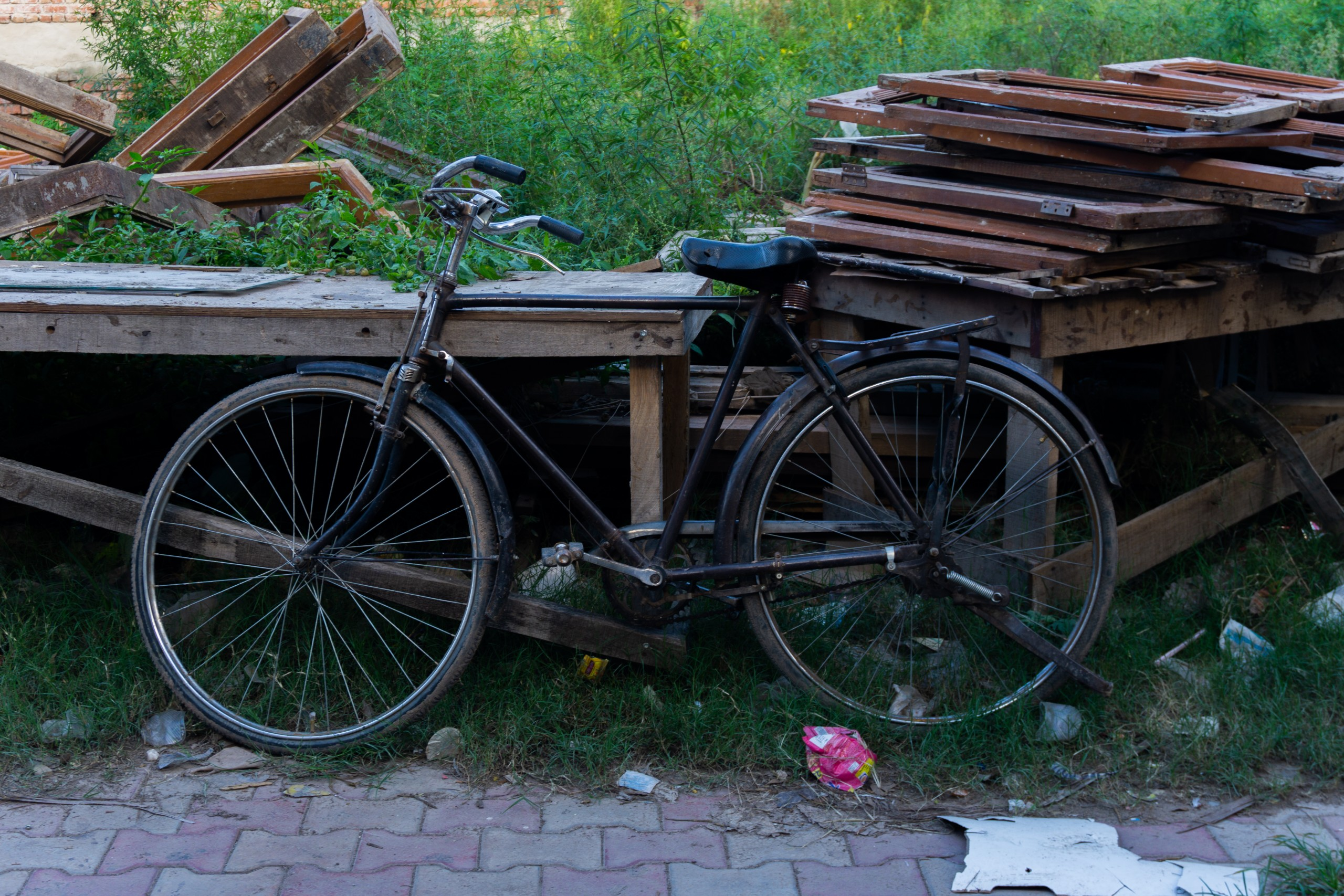 Old Bike Parked