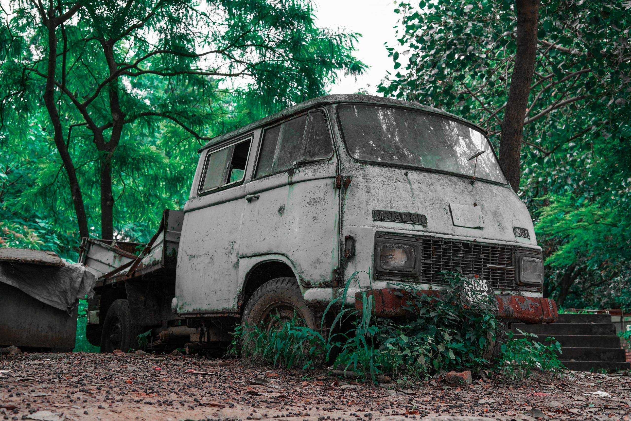 Old vintage van