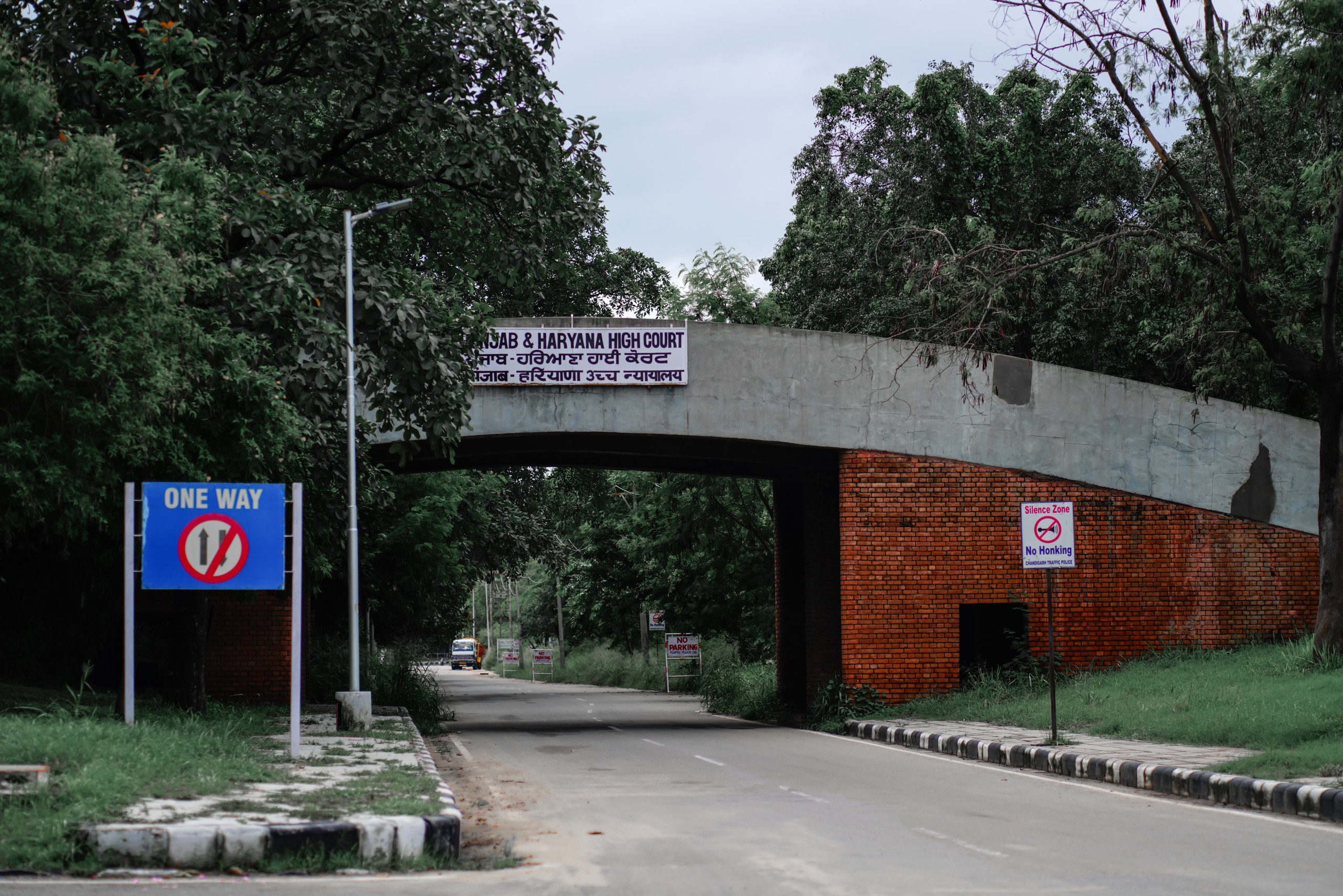 One way road at Chandigarh