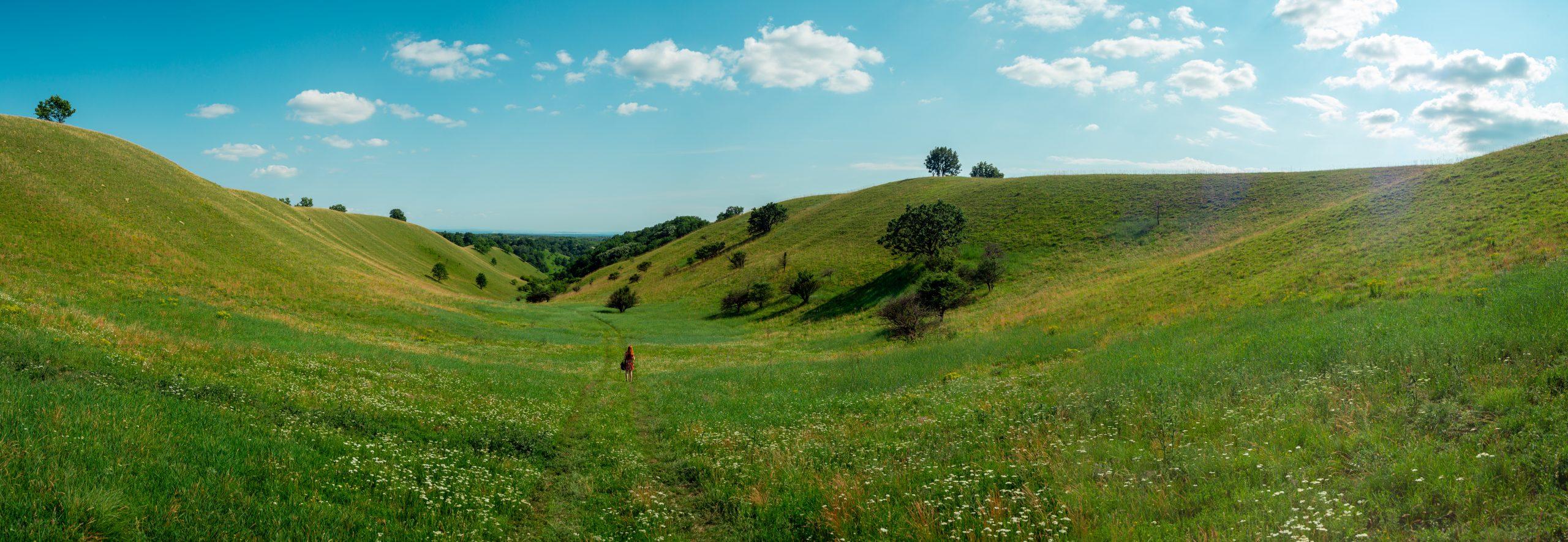 Natural Panorama view in Serbia