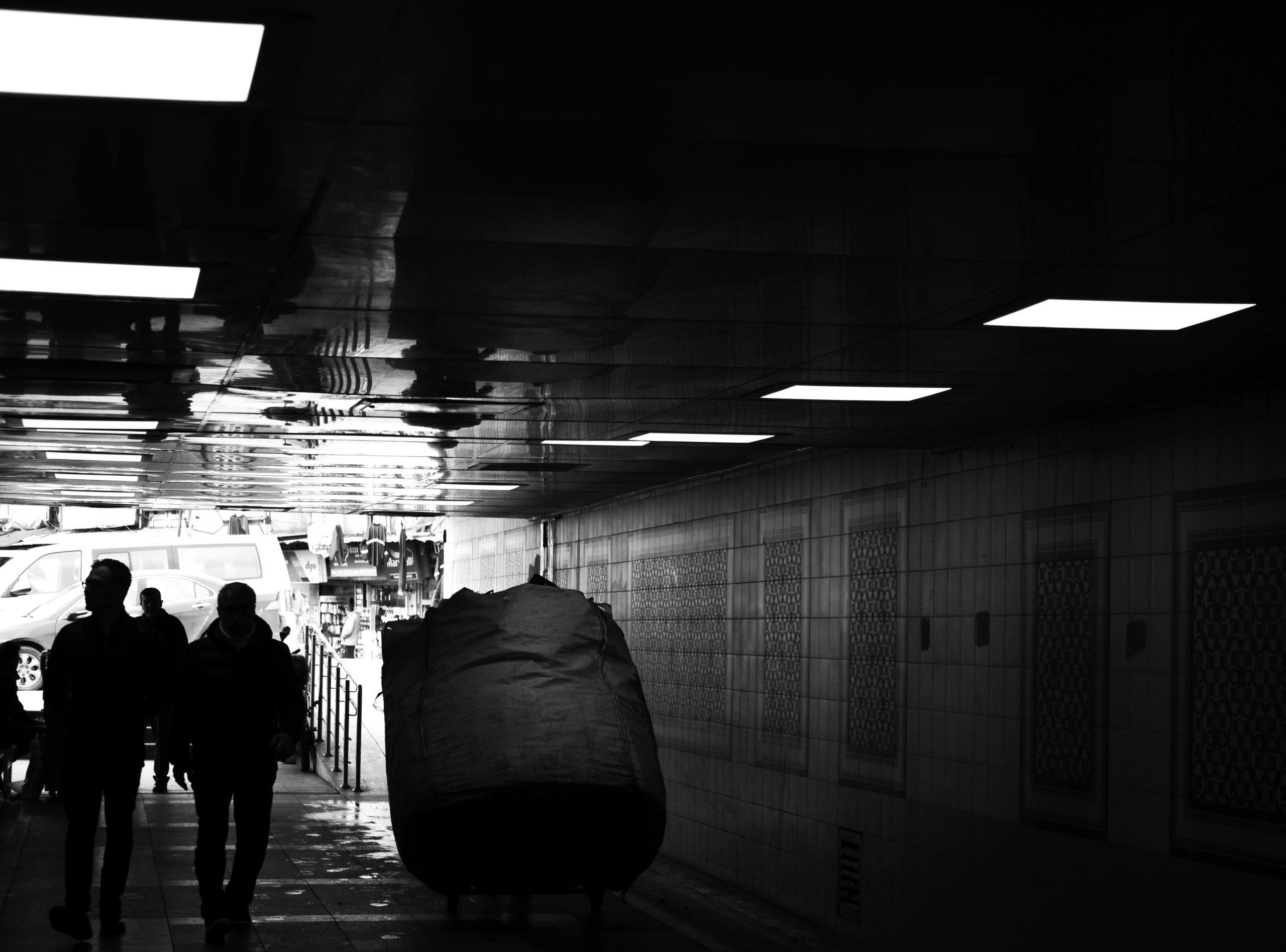 Pedestrian underpass in Istanbul