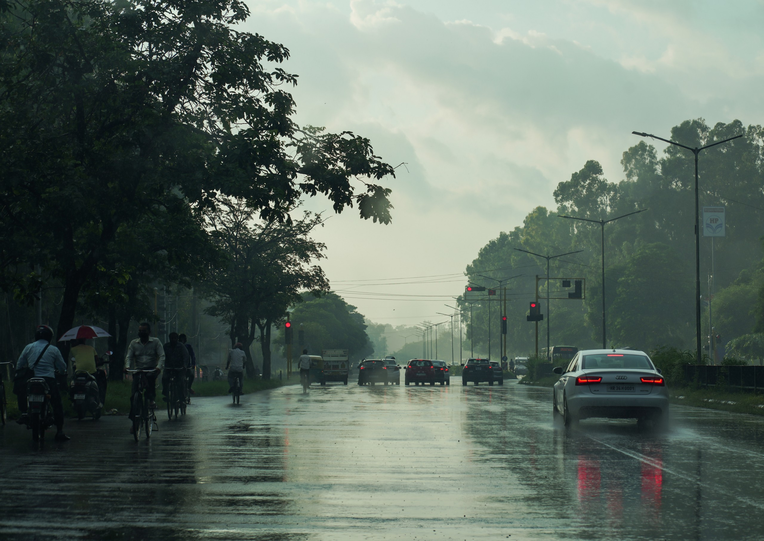 Photo during rain at Chandigarh
