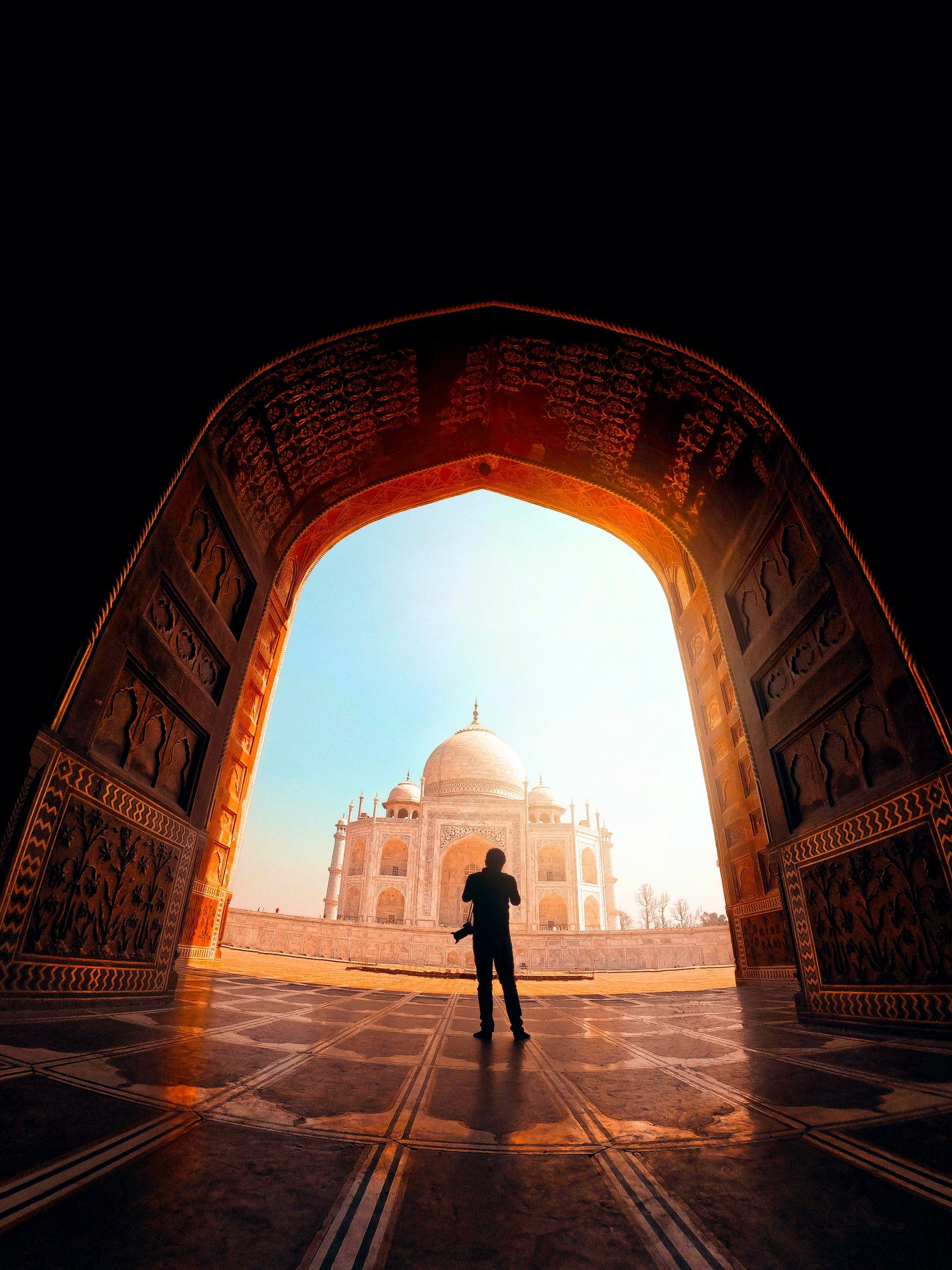 Photographer in Taj mahal