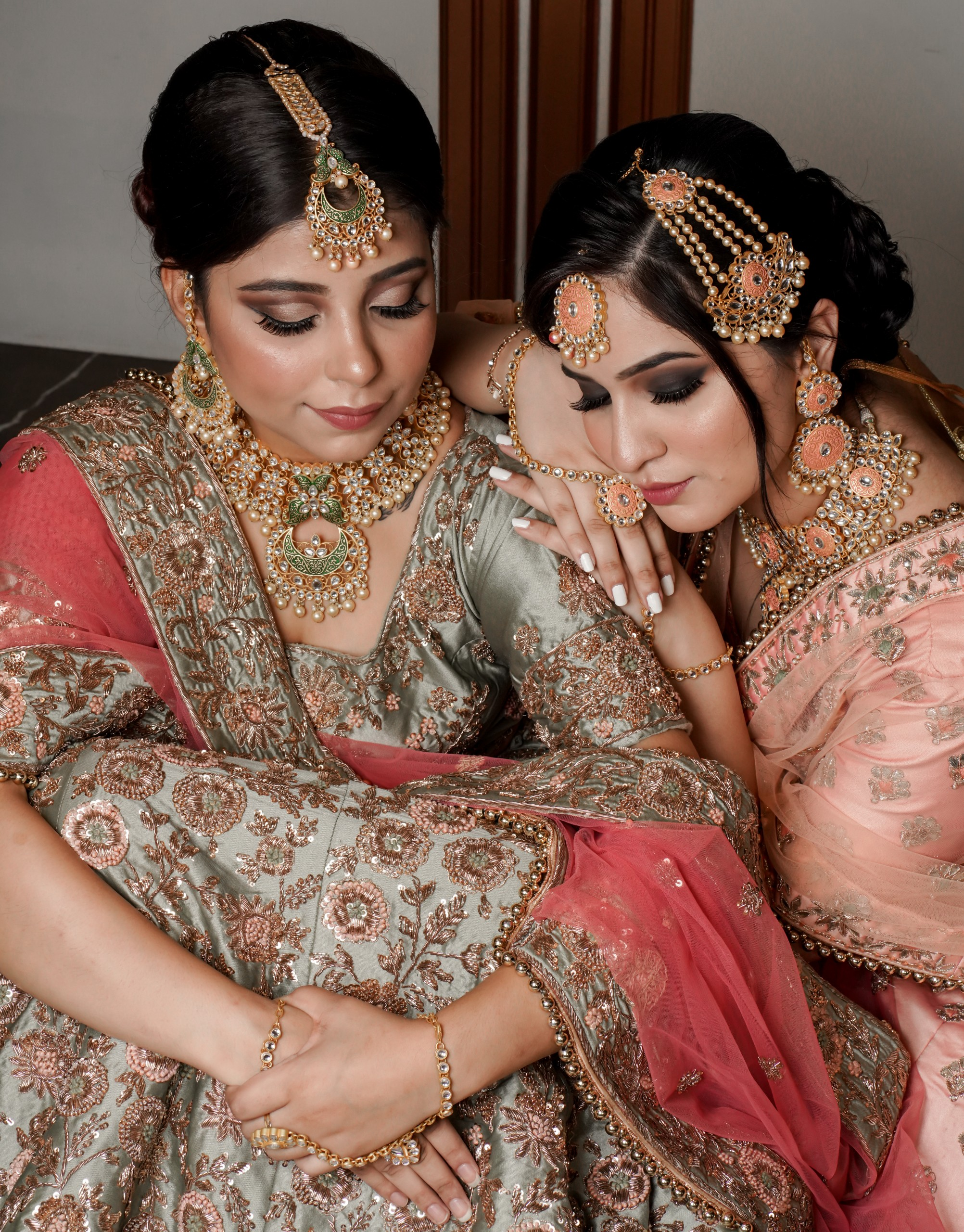 Portrait of Indian brides