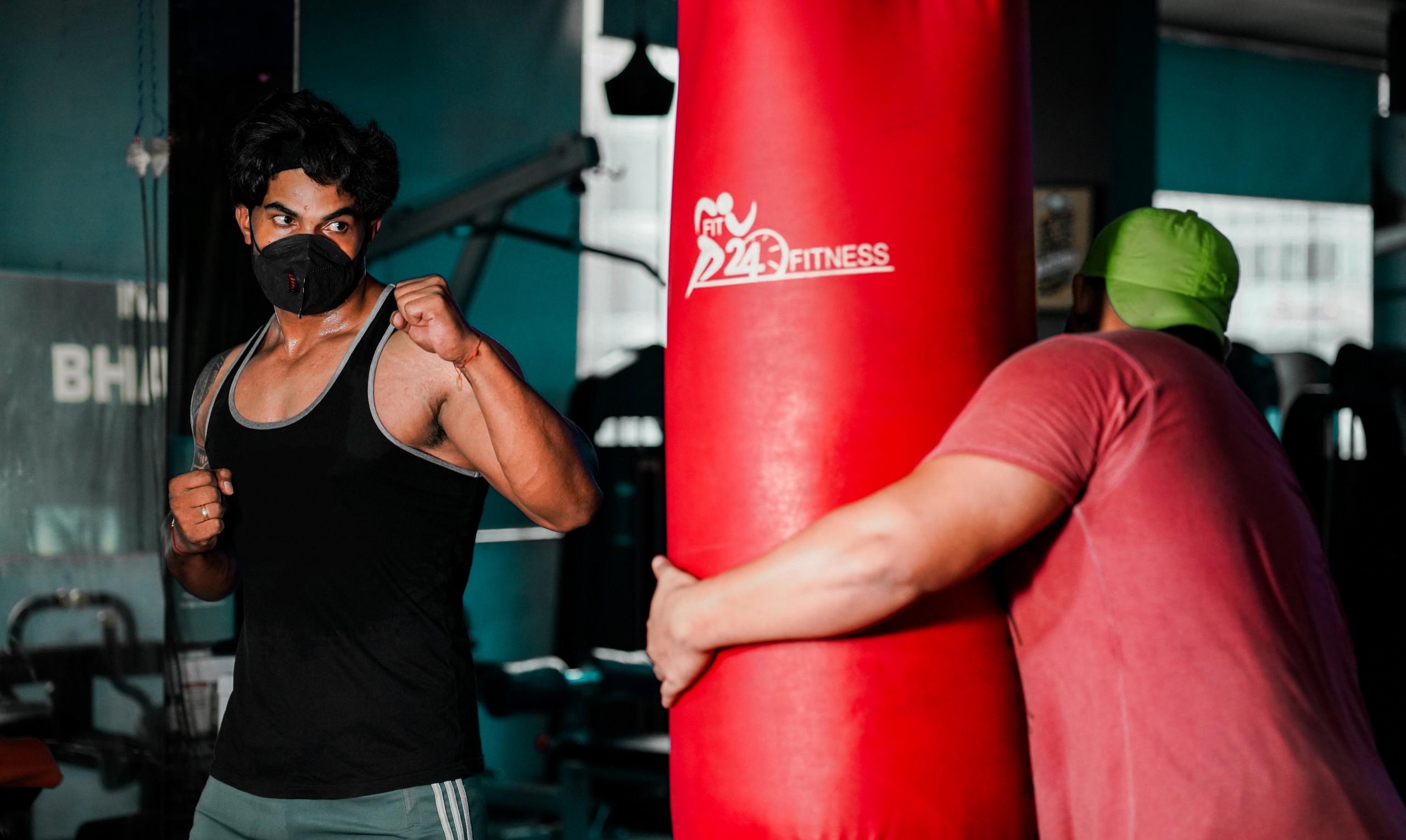 Punching Exercise at gym