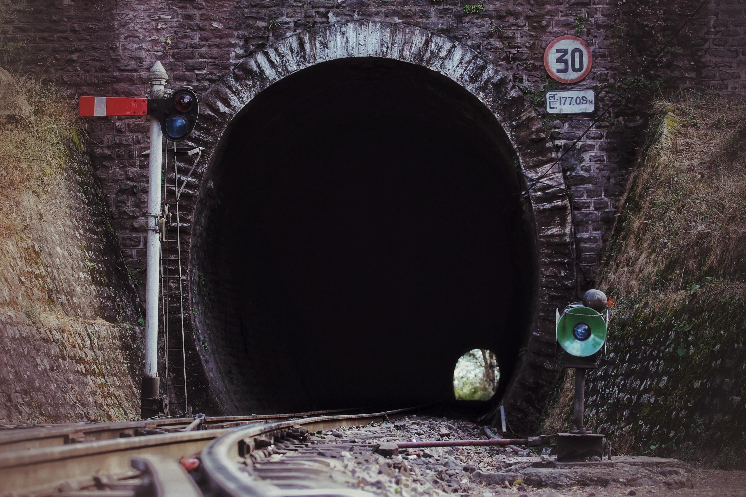 Railway track tunnel
