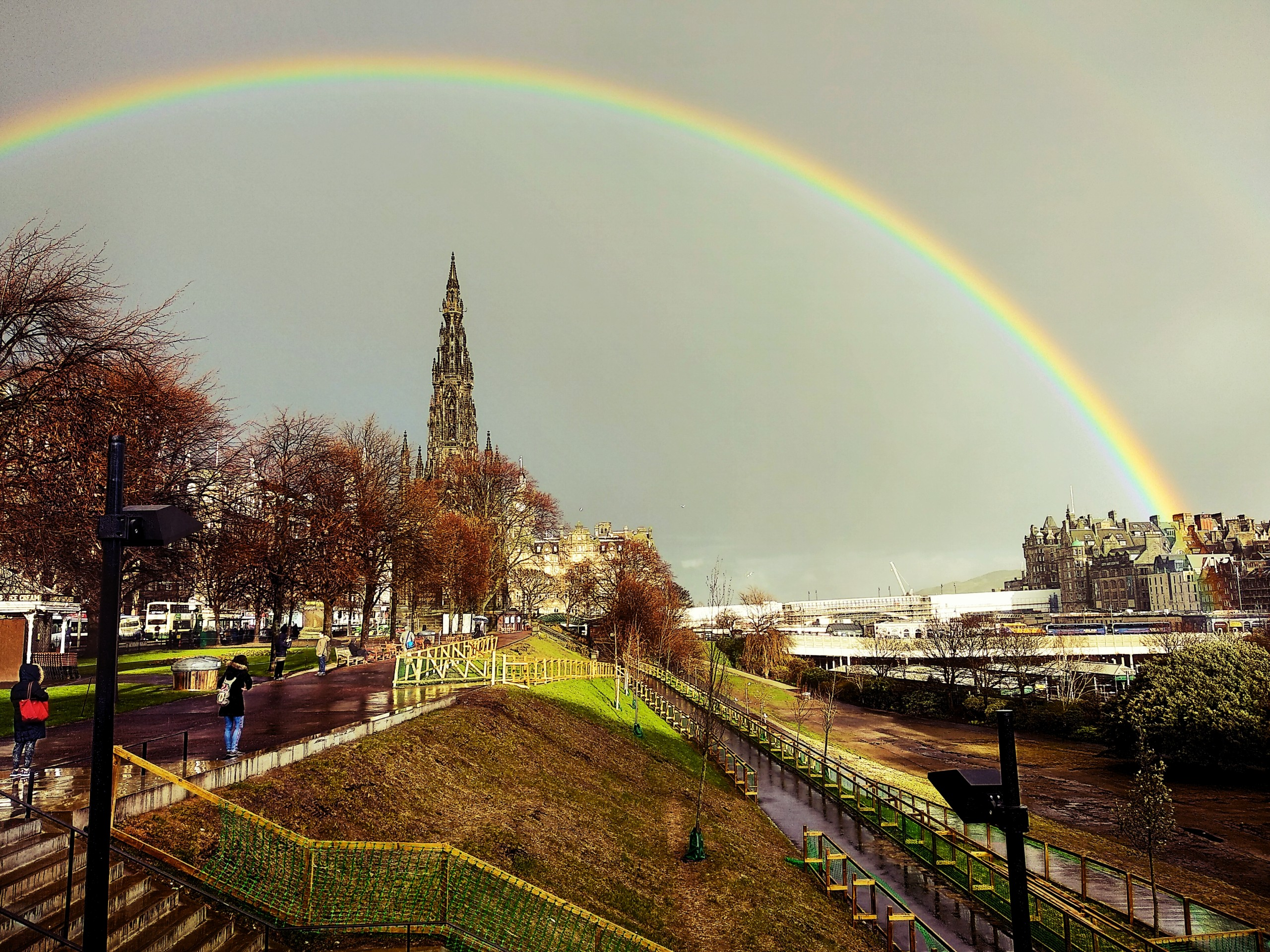 Rainbow on Edinburgh