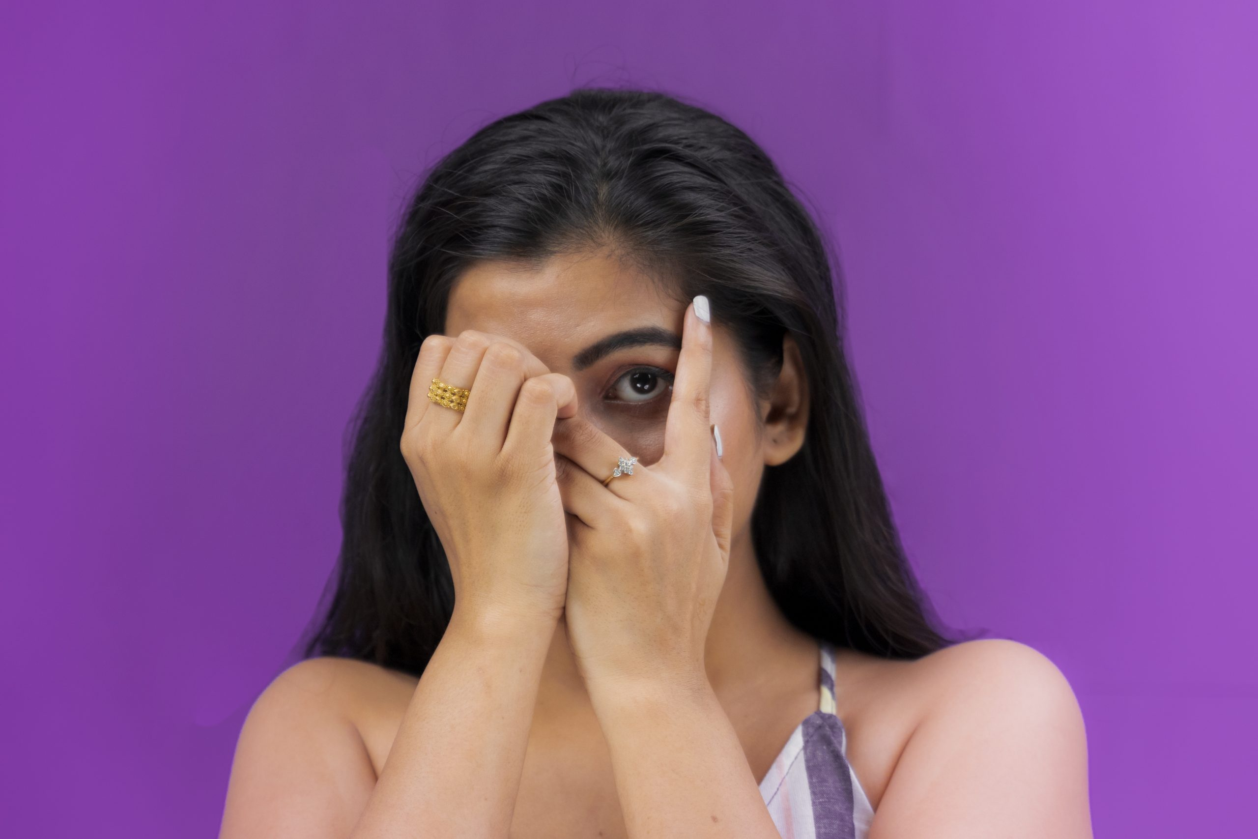 Scared indian girl