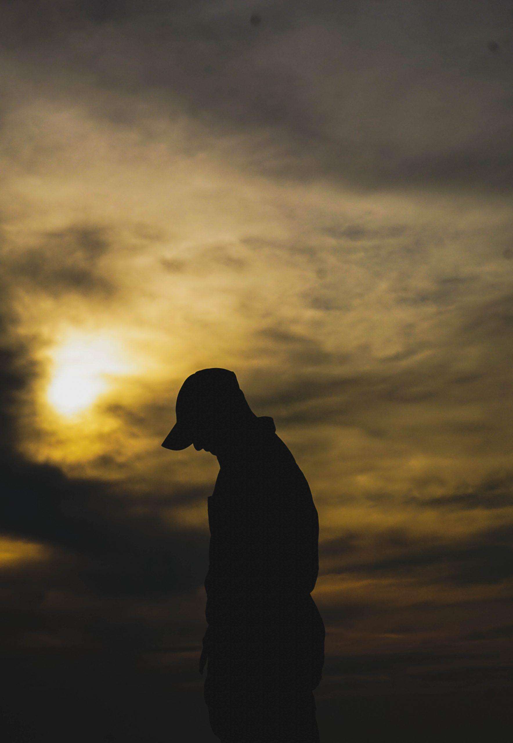 A boy during sunset