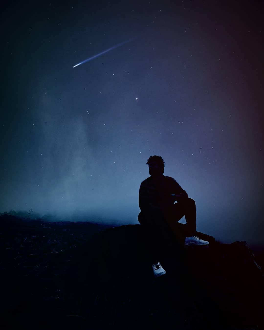 Shooting star make a wish