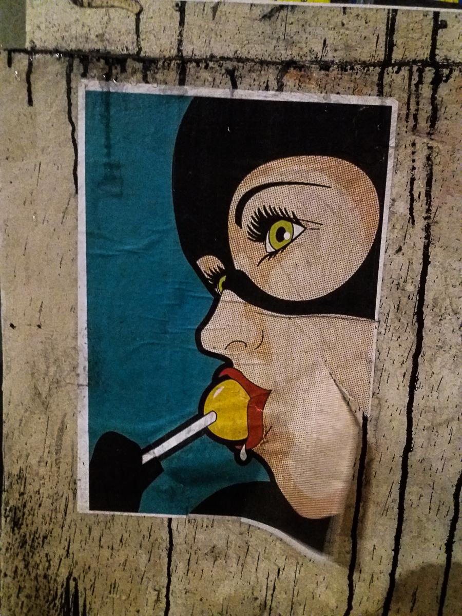 Street Art Cat Woman