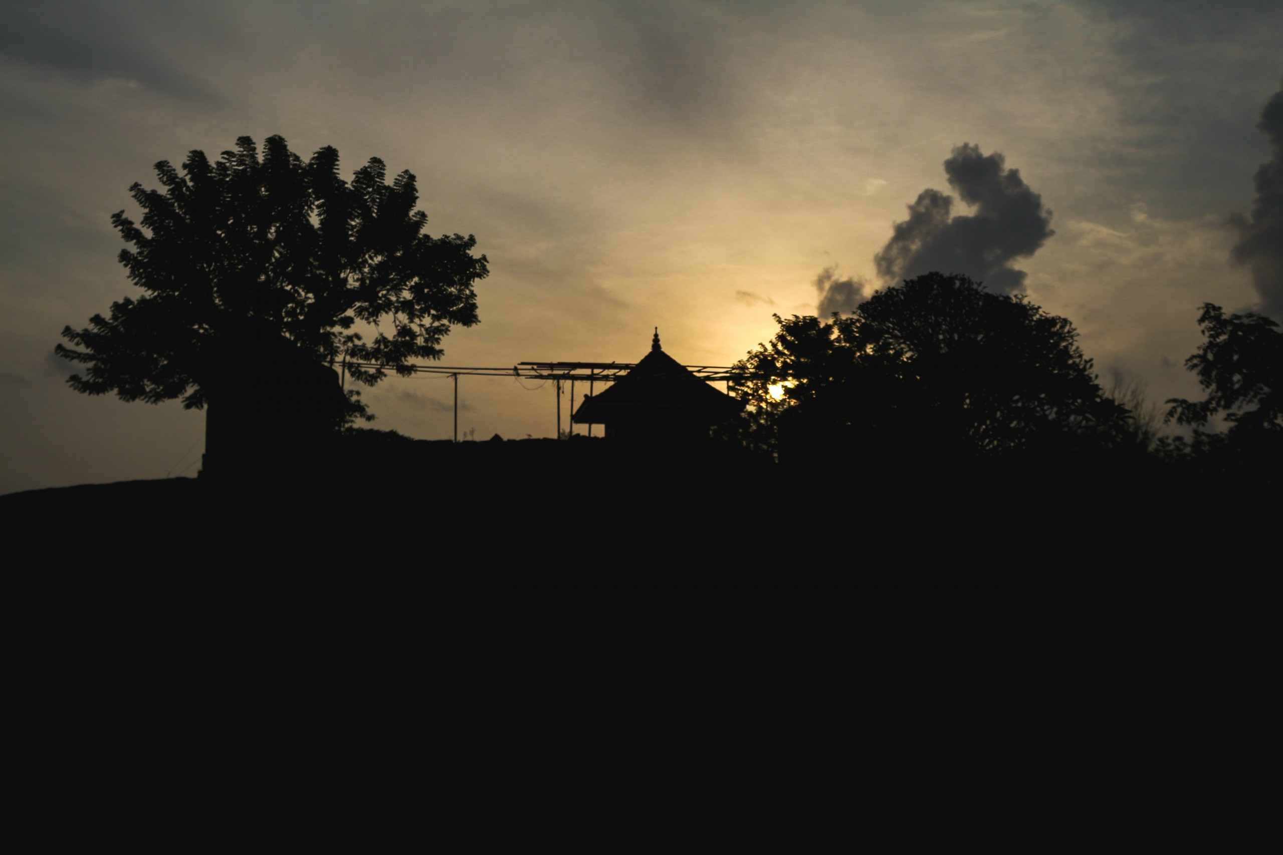 Silhouette of a Temple