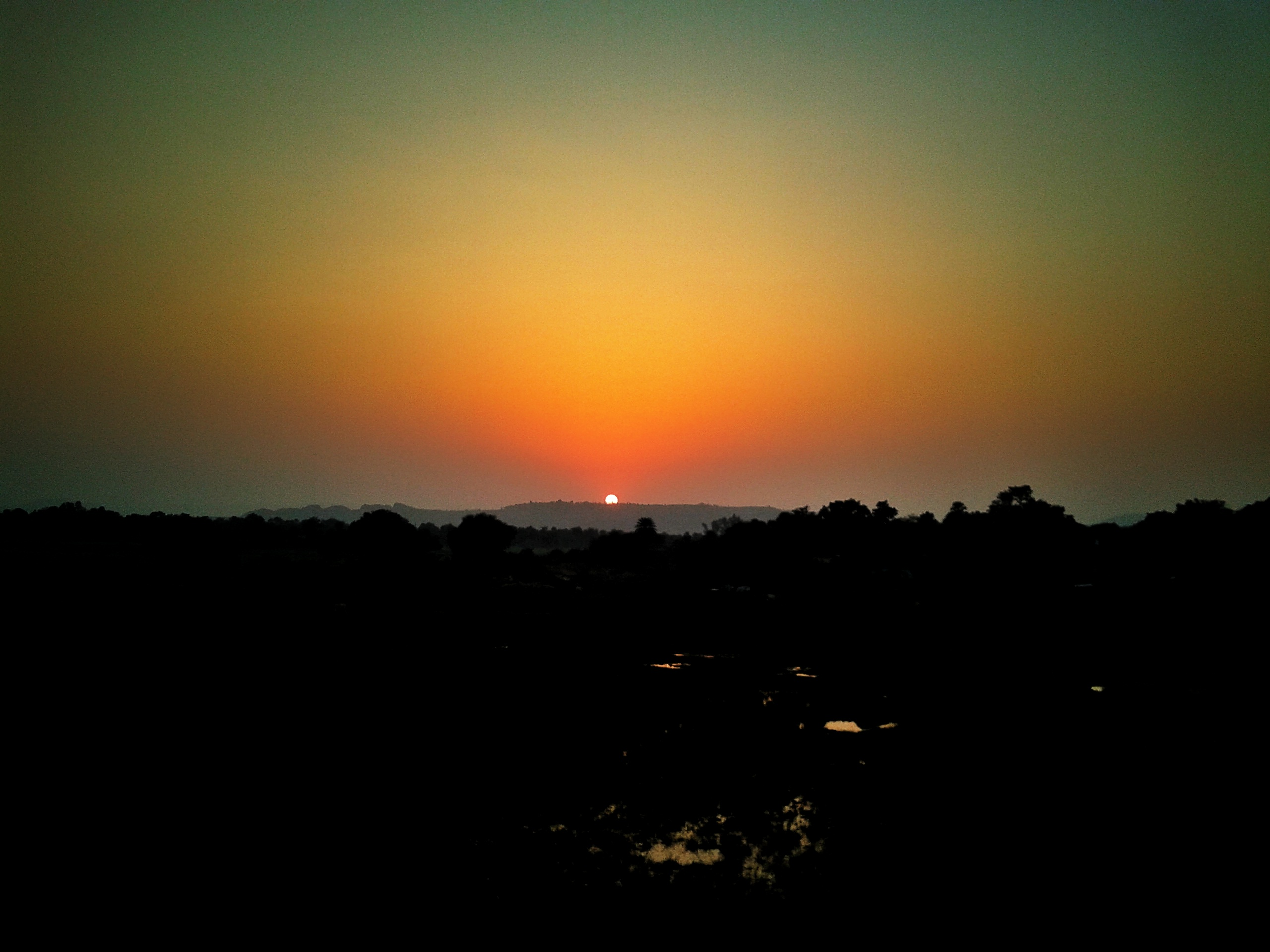 Sunset View from Far Away