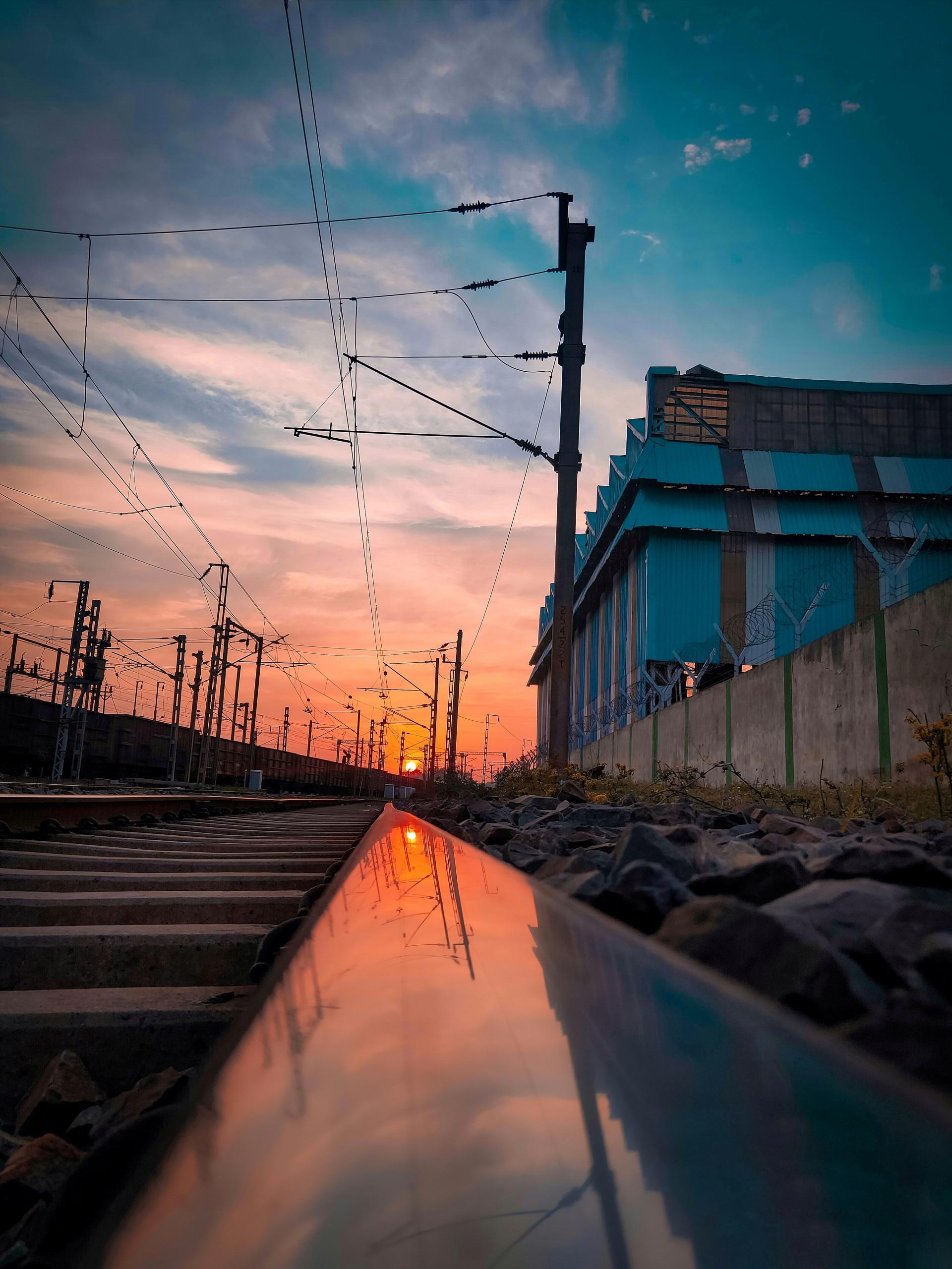 Sunset at Railway Line