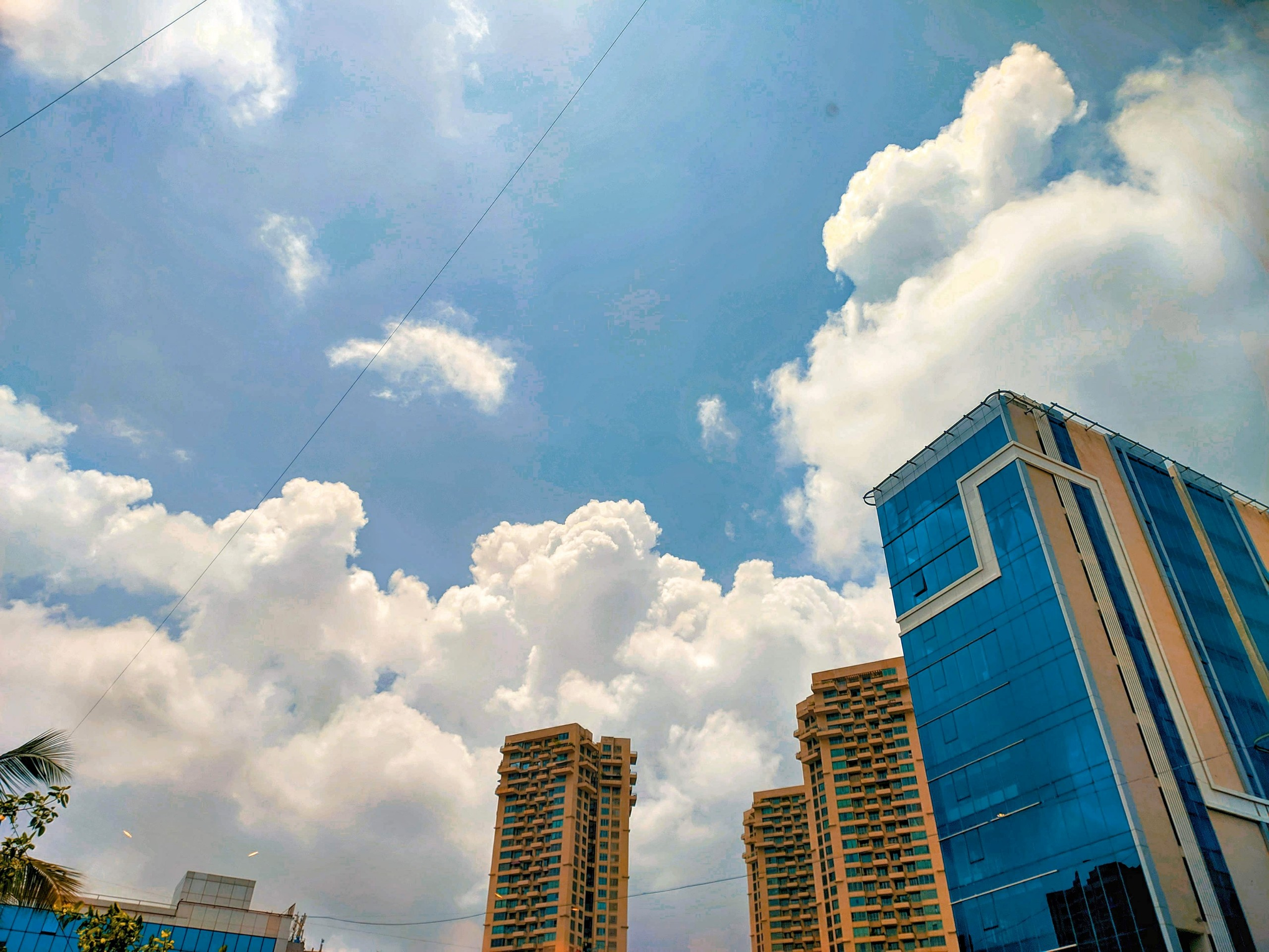 Tall buildings and open sky