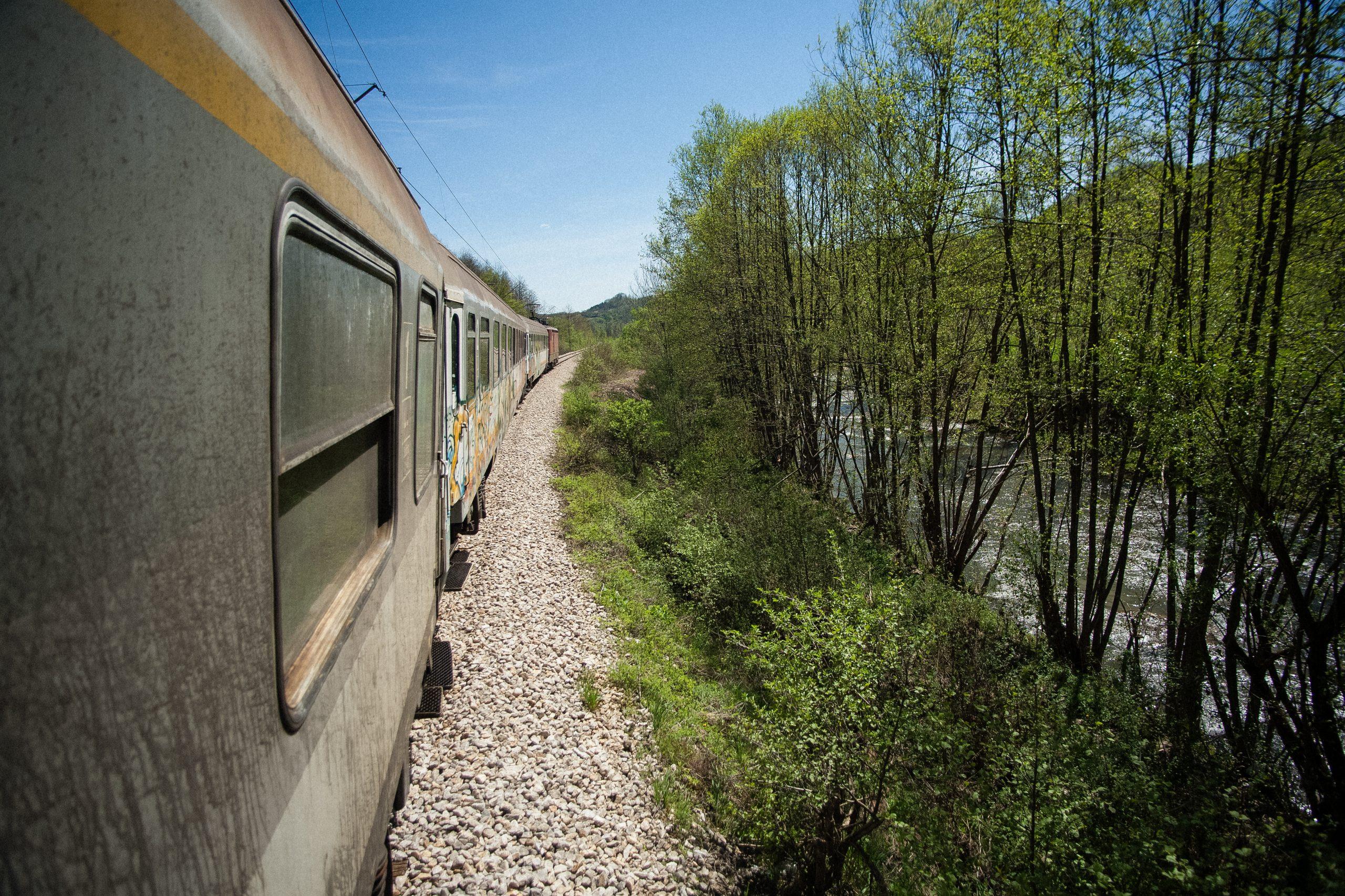 Train trip in Serbia