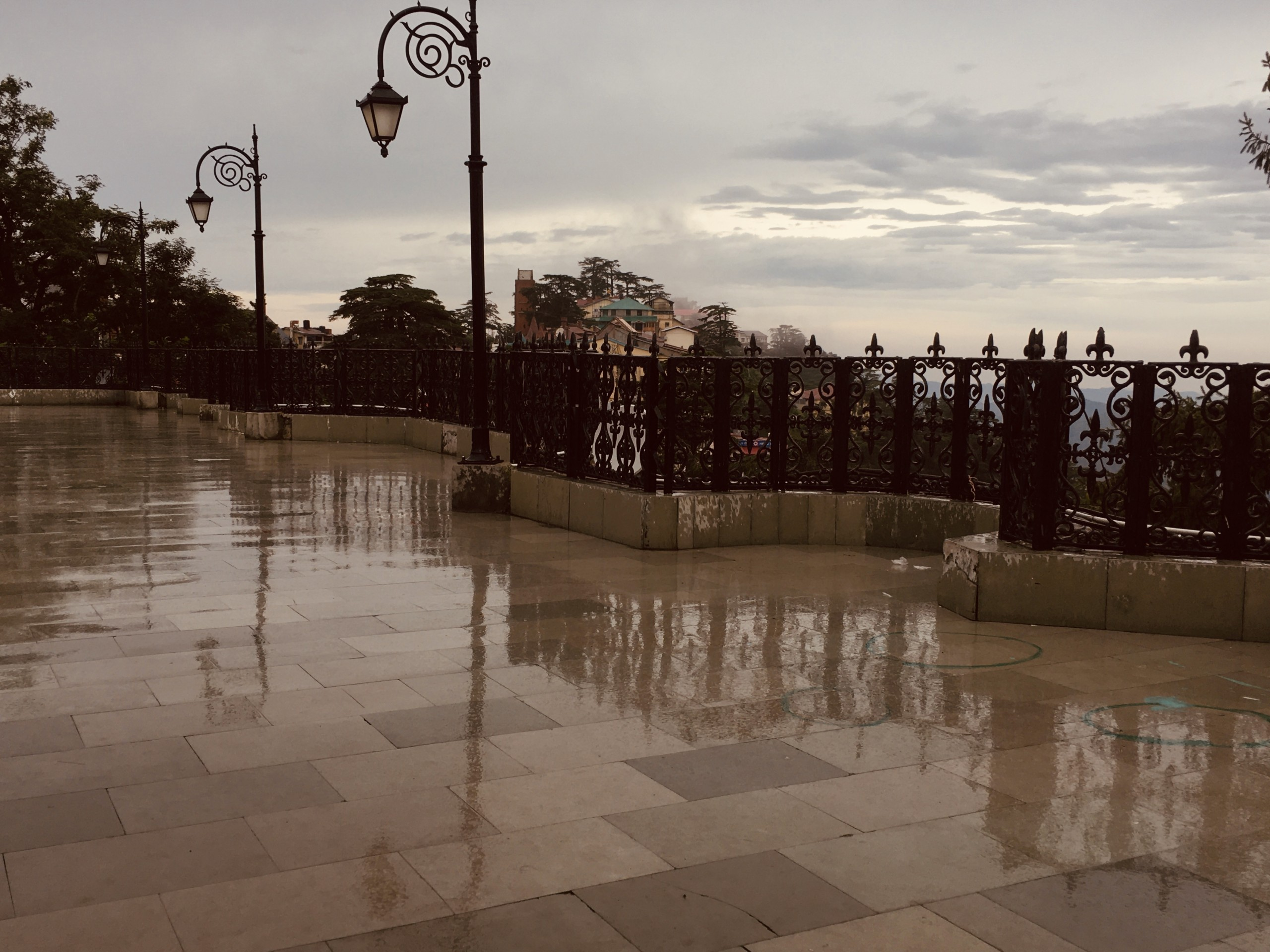 View after rain