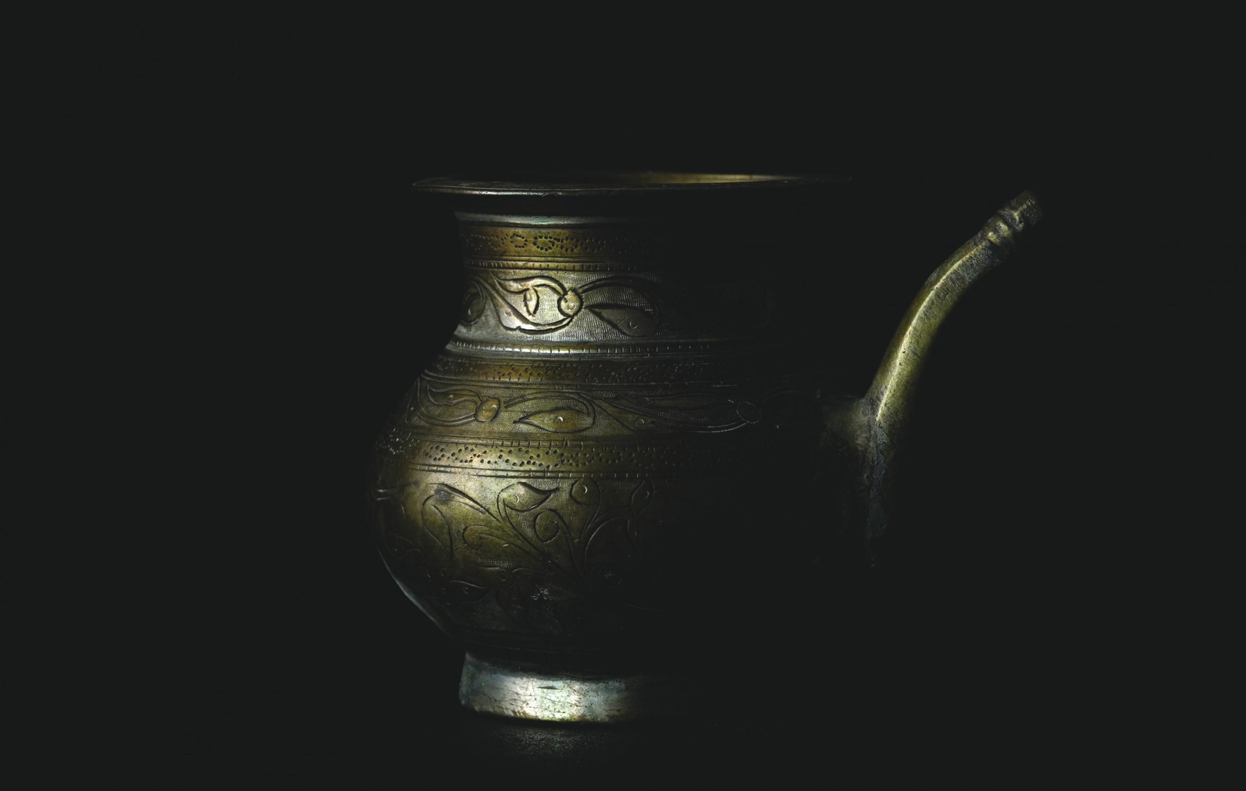 Vintage Vase on Dark Background