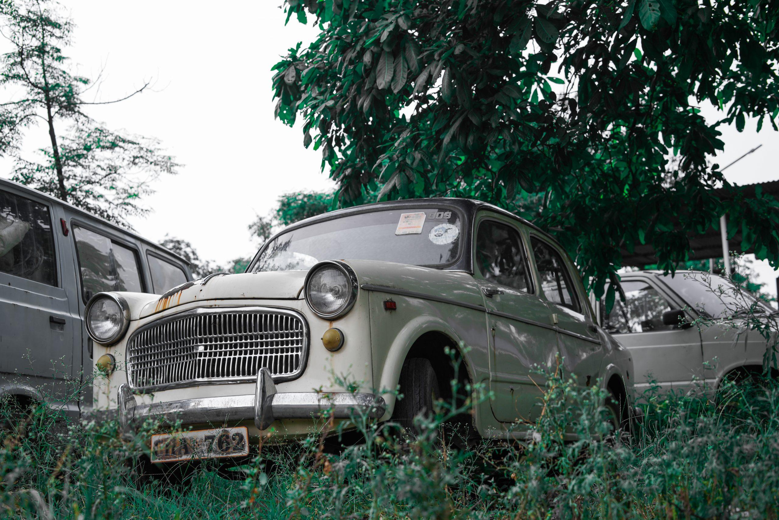 Vintage car parking