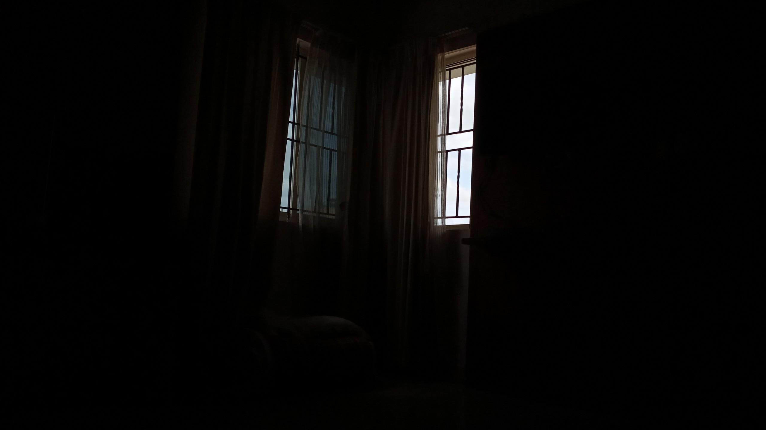 Dark room window