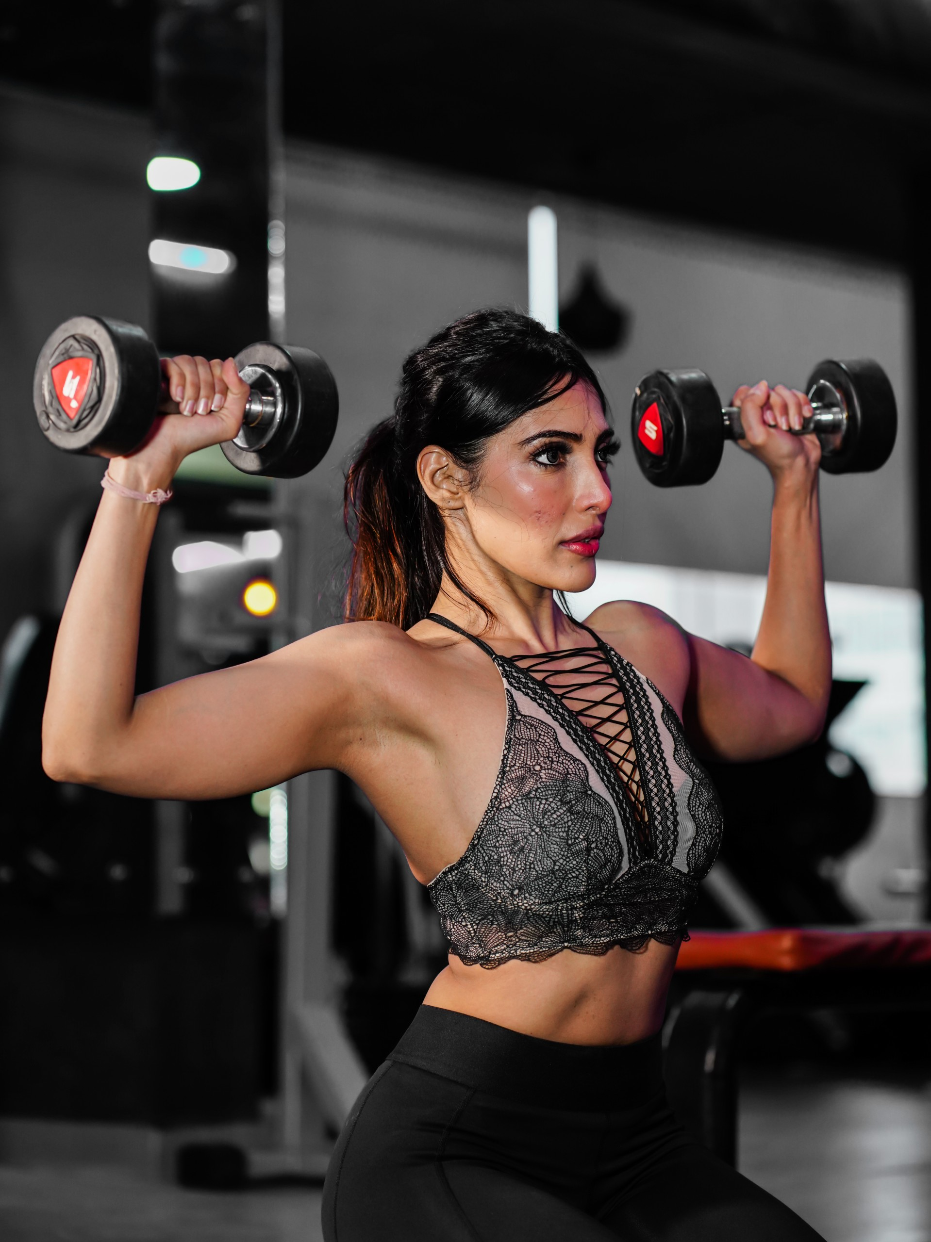 Woman exercise workout in gym