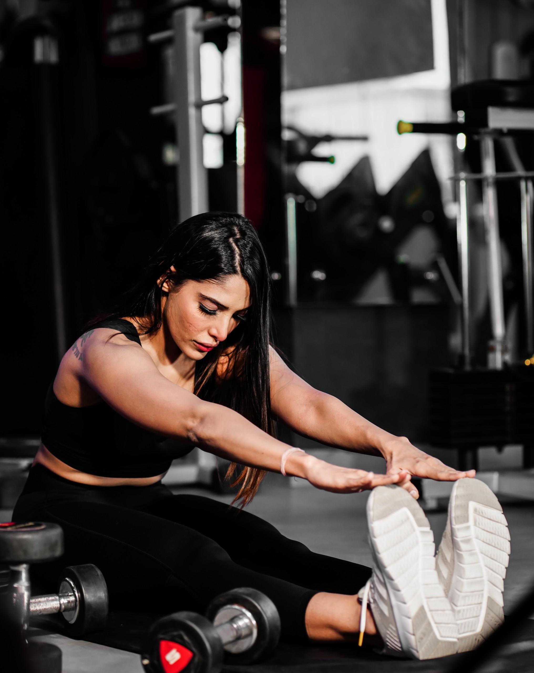 Woman sport gym training