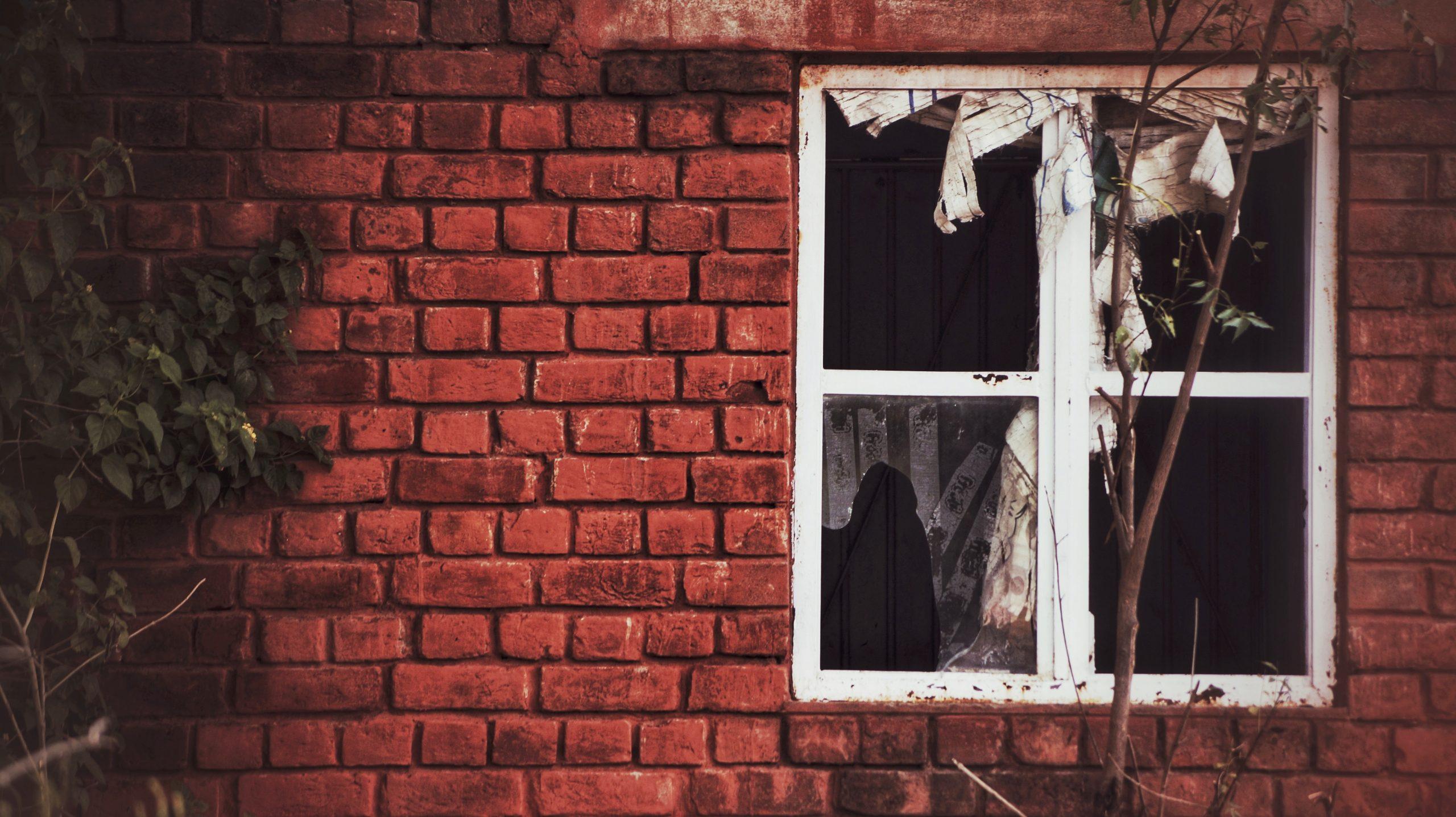 Wrecked and Broken Window