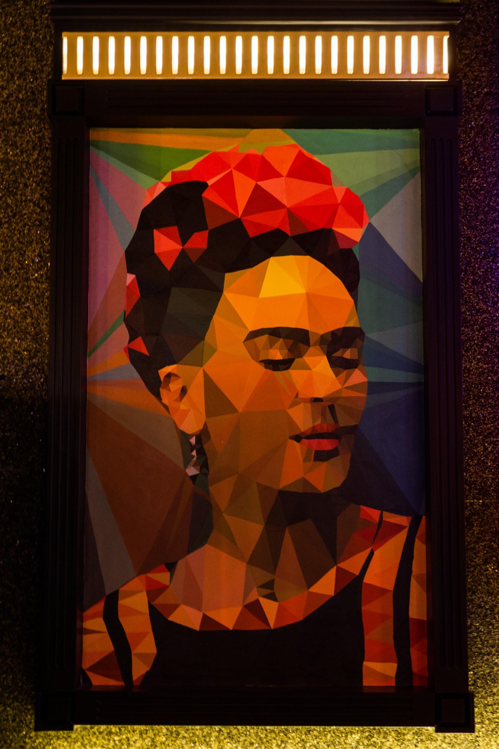 geometrical painting frame