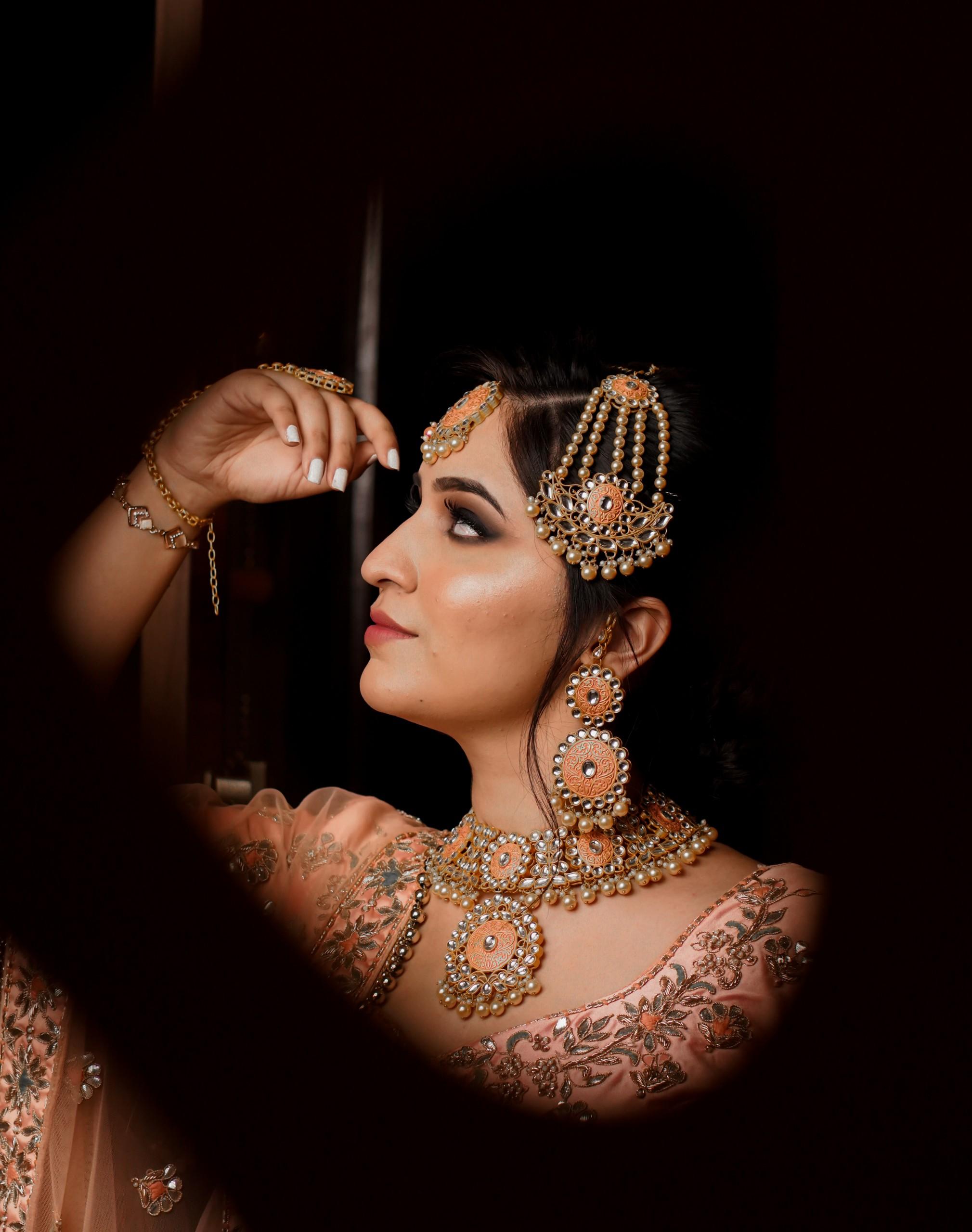 Indian Bride on Dark Background