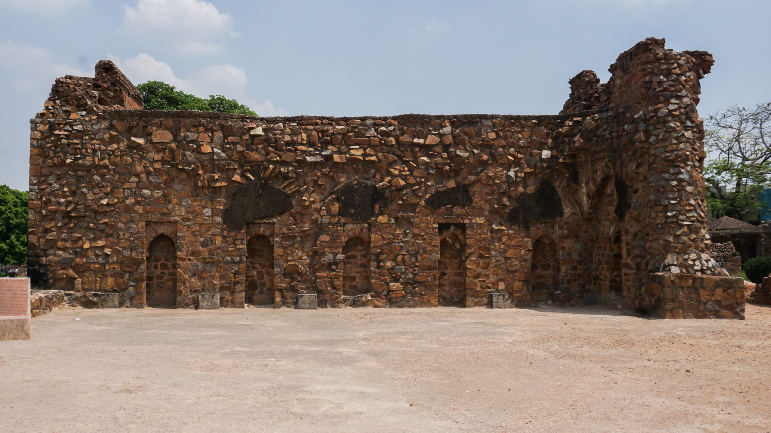 Historic Indian architecture of Red Bricks