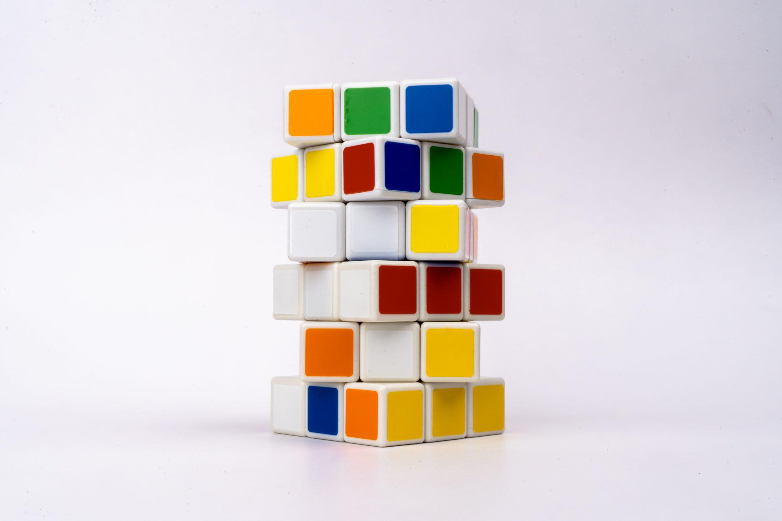 2 jumbled Rubik cubes
