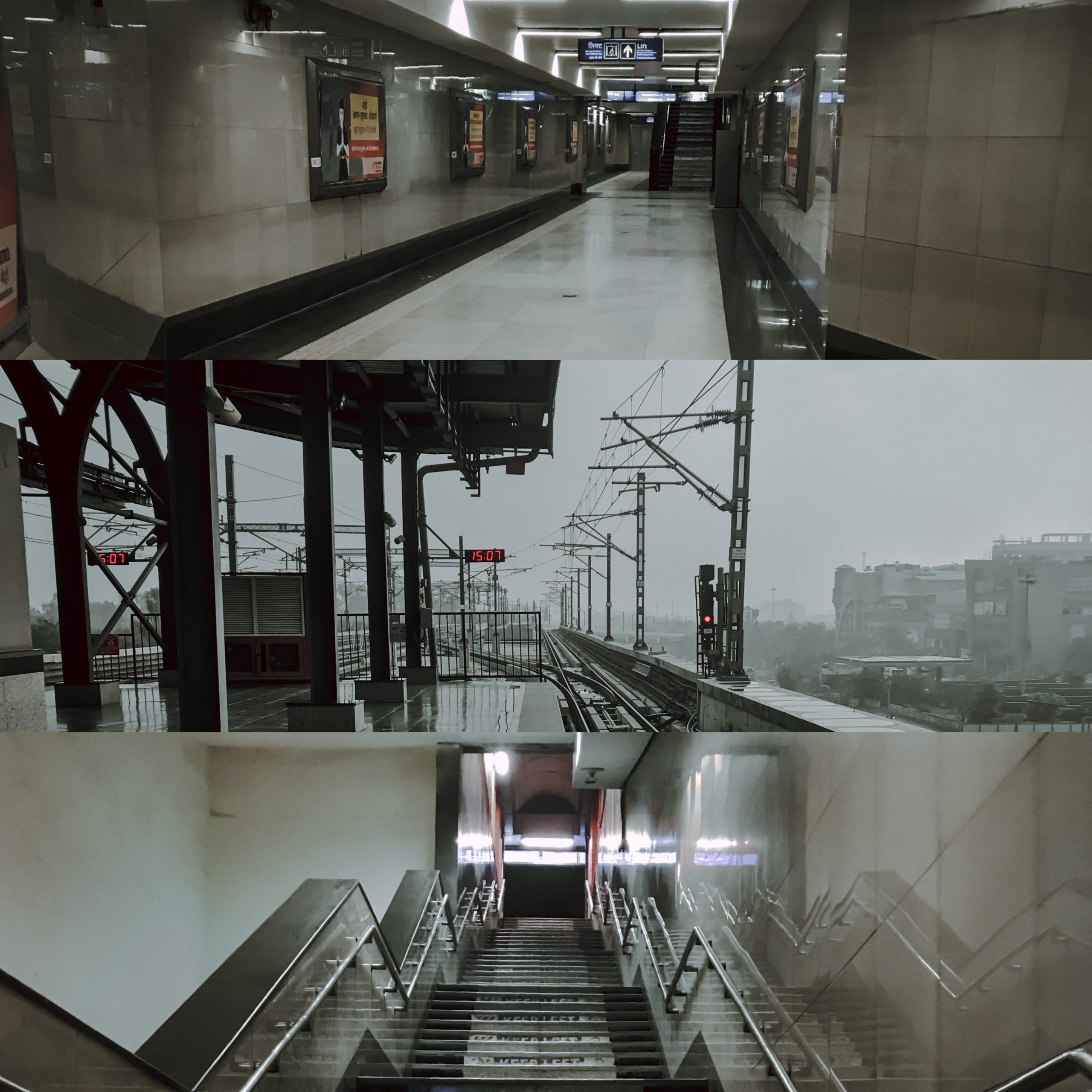 3 empty Metro Stations