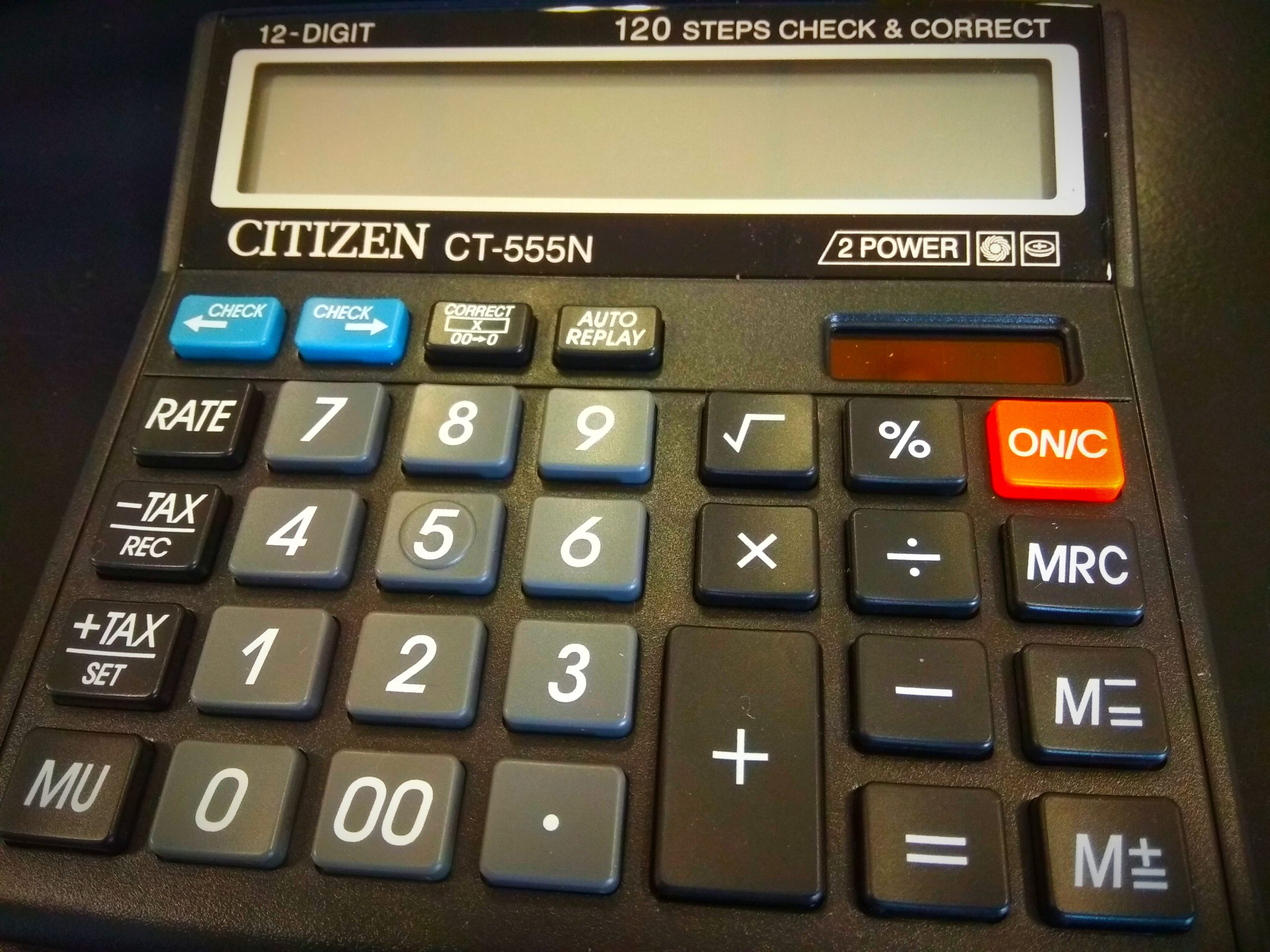 A Calculator at the Table