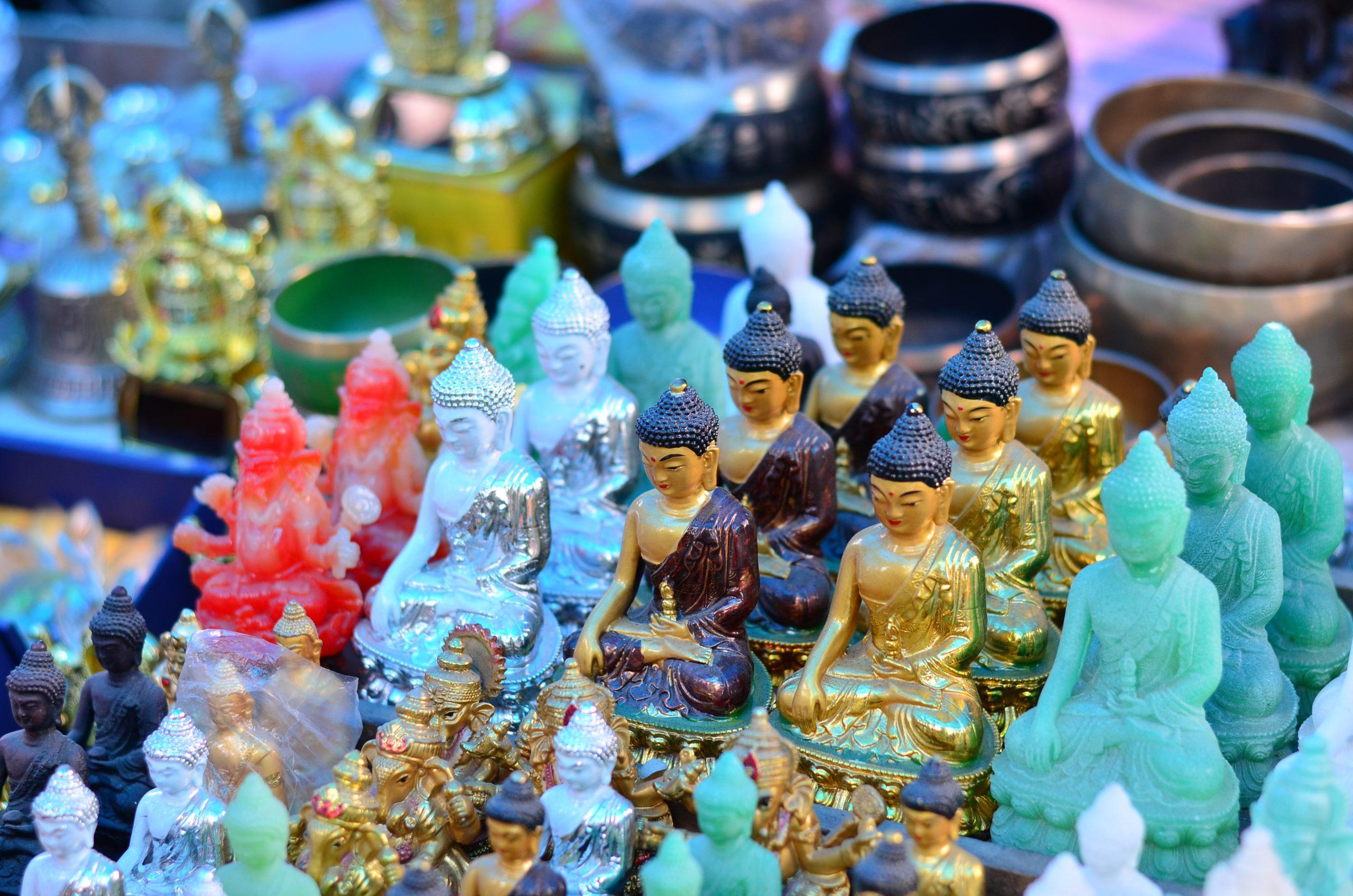 A Crystal Buddha Sculpture