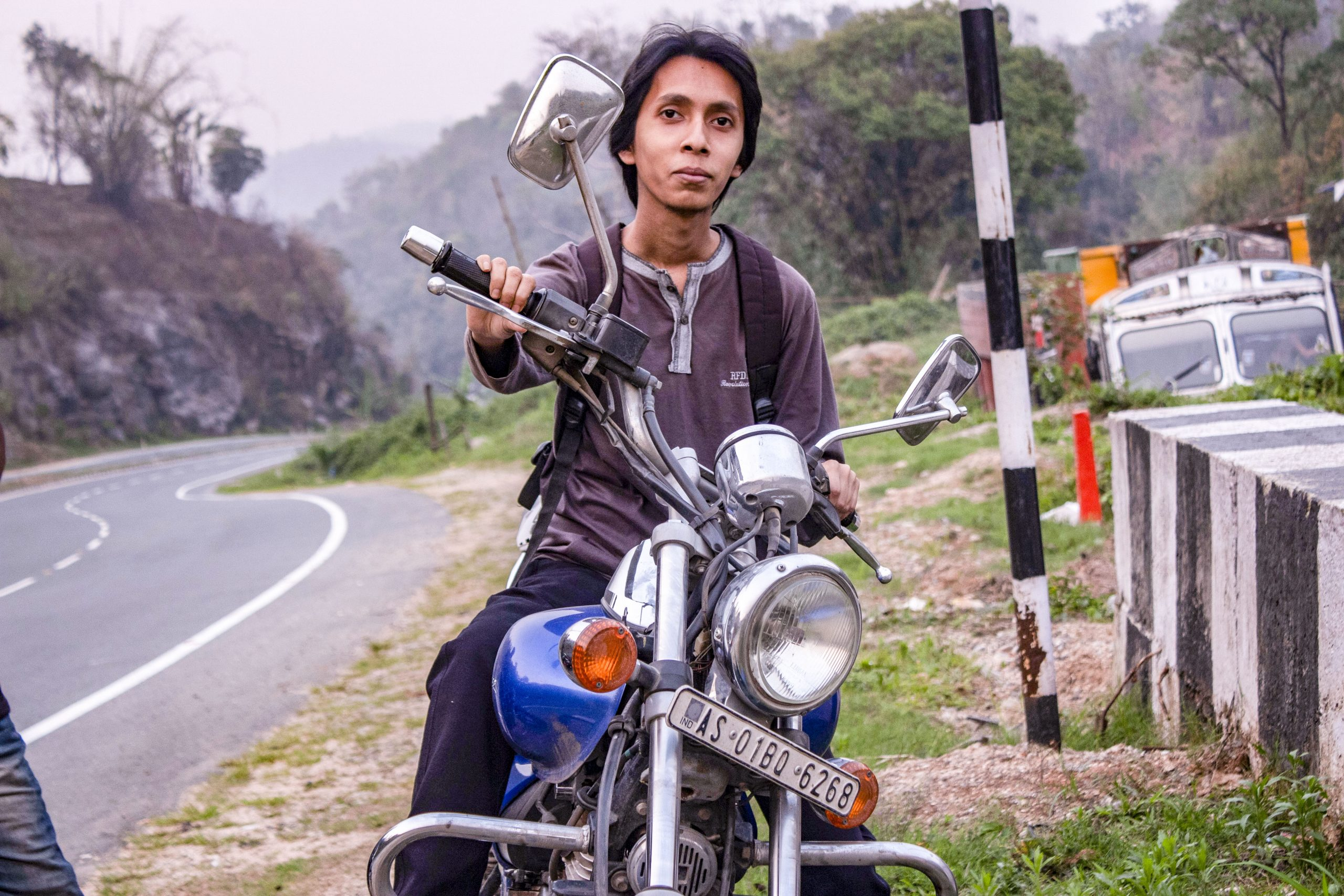 A Man with His Motorcycle