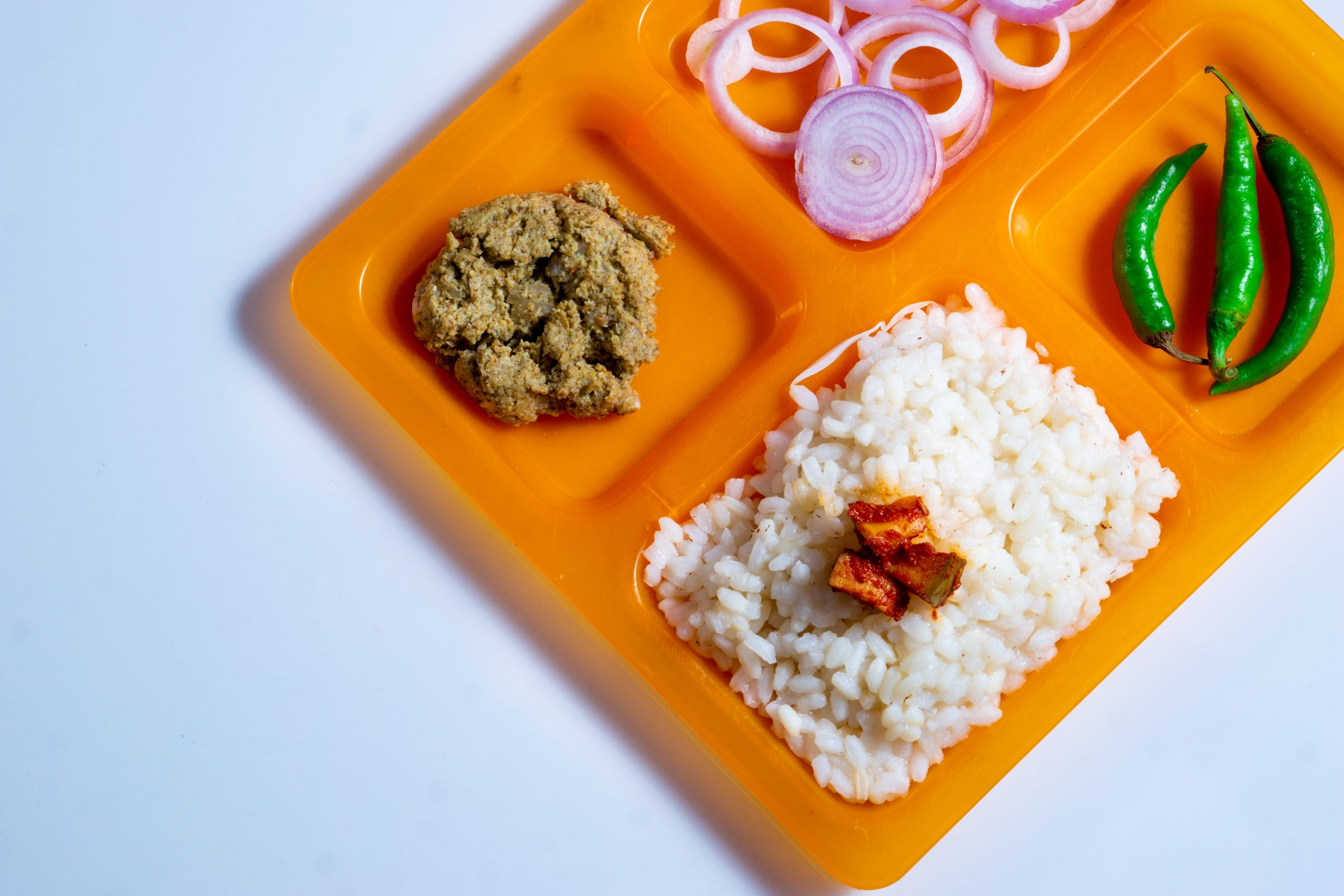 A Meal in a Plate on Focus