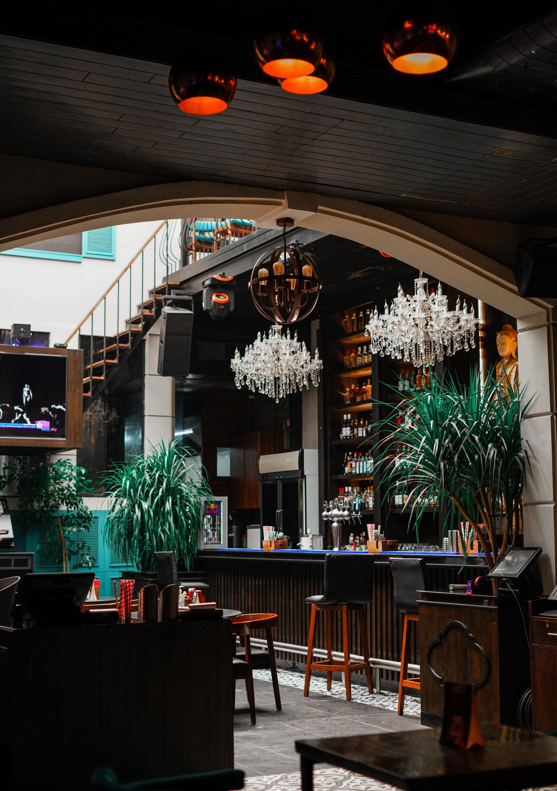 A Shot of a Modern Bar