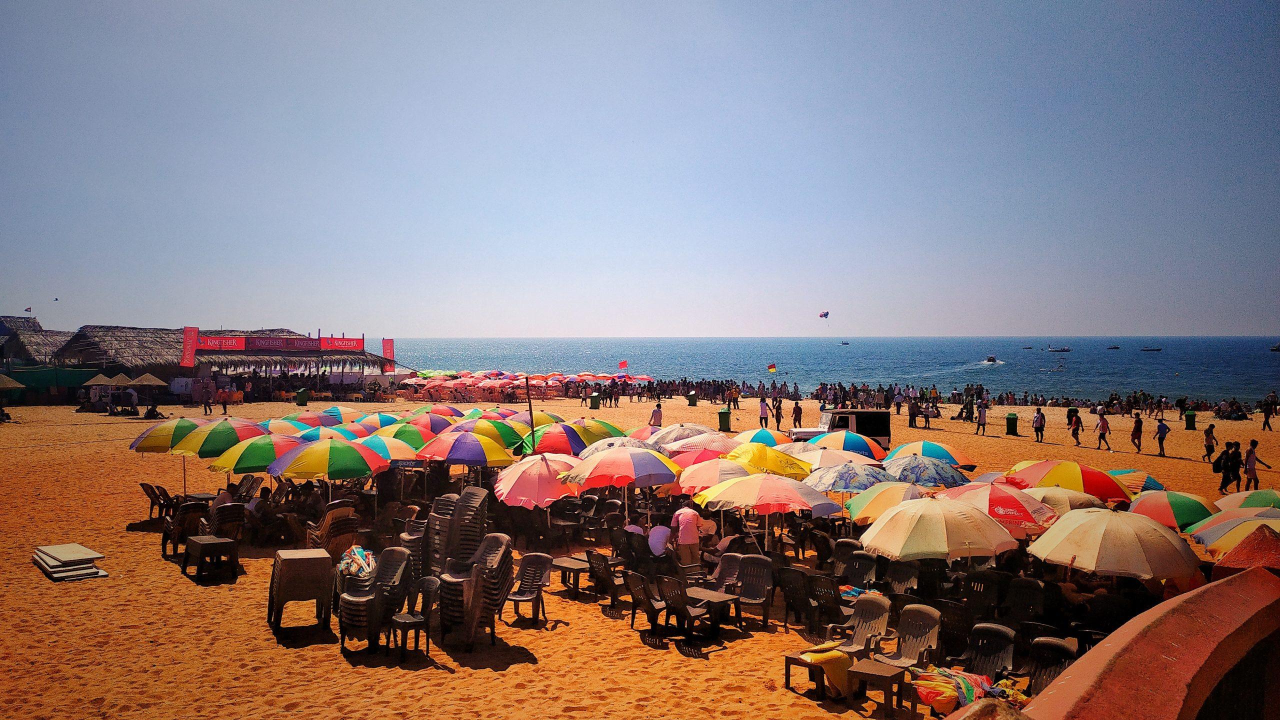 A beach during summer