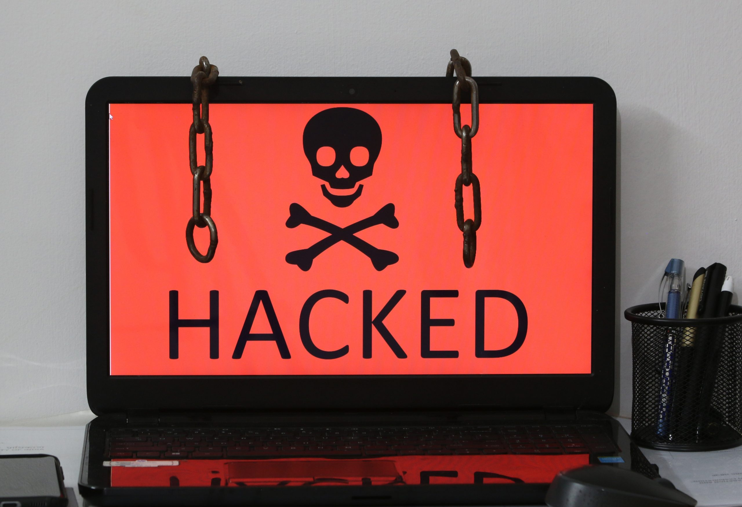 A computer hacked