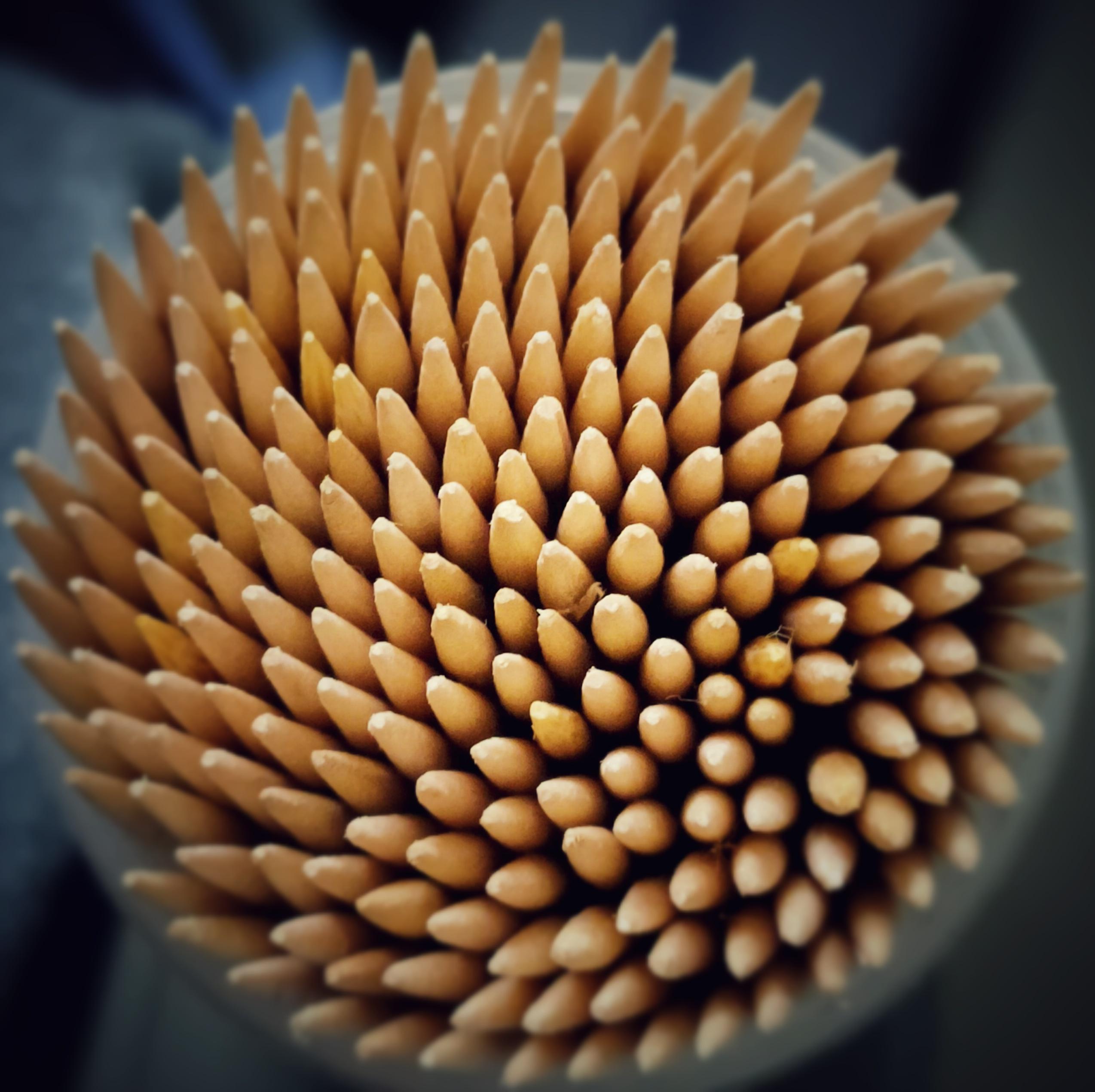 toothpicks close up