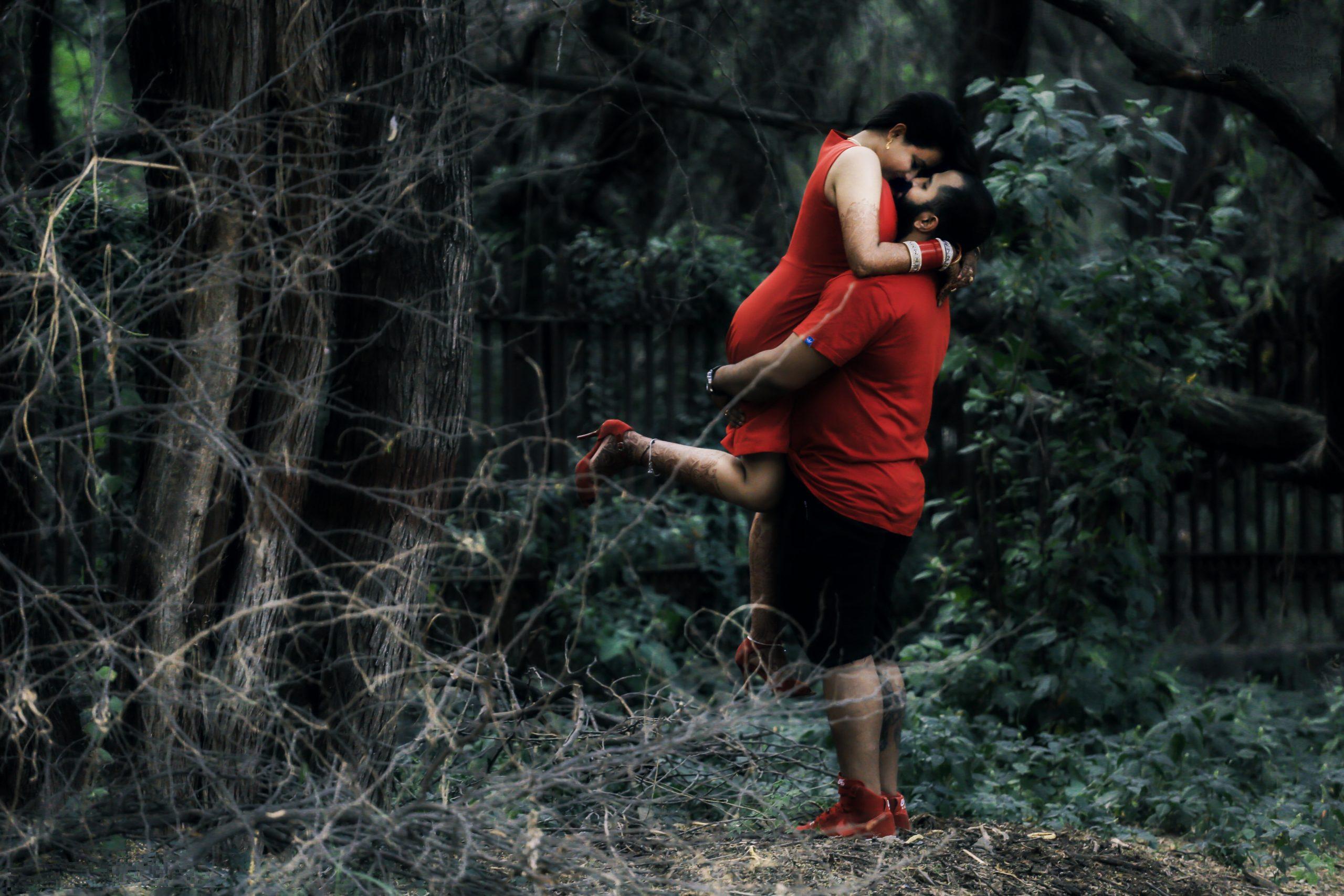 A couple in a jungle
