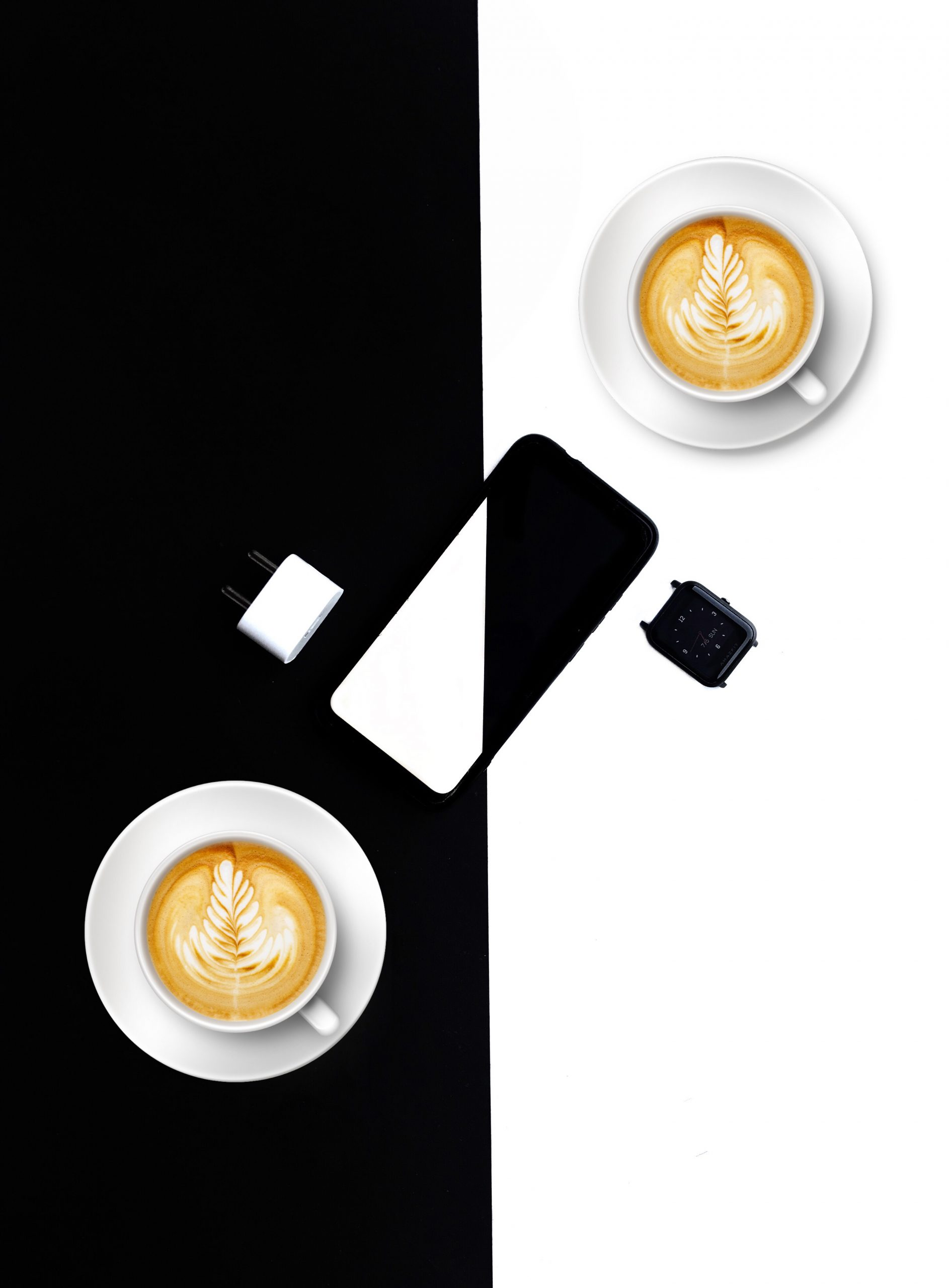 A flatlay product shot of A phone