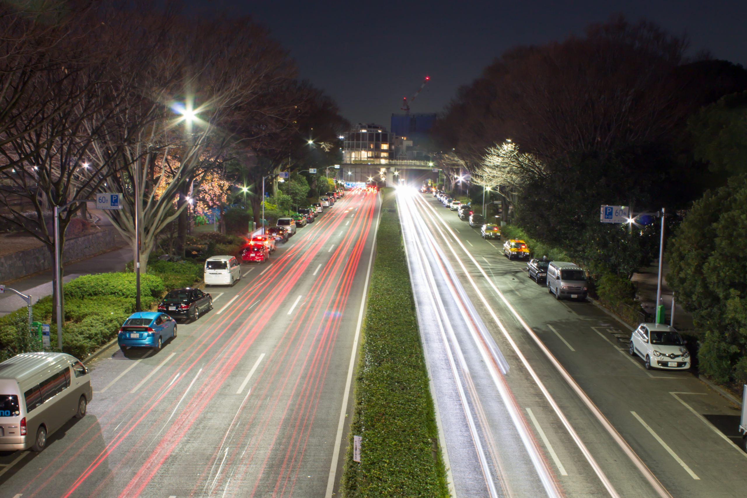 A highway road in Tokyo