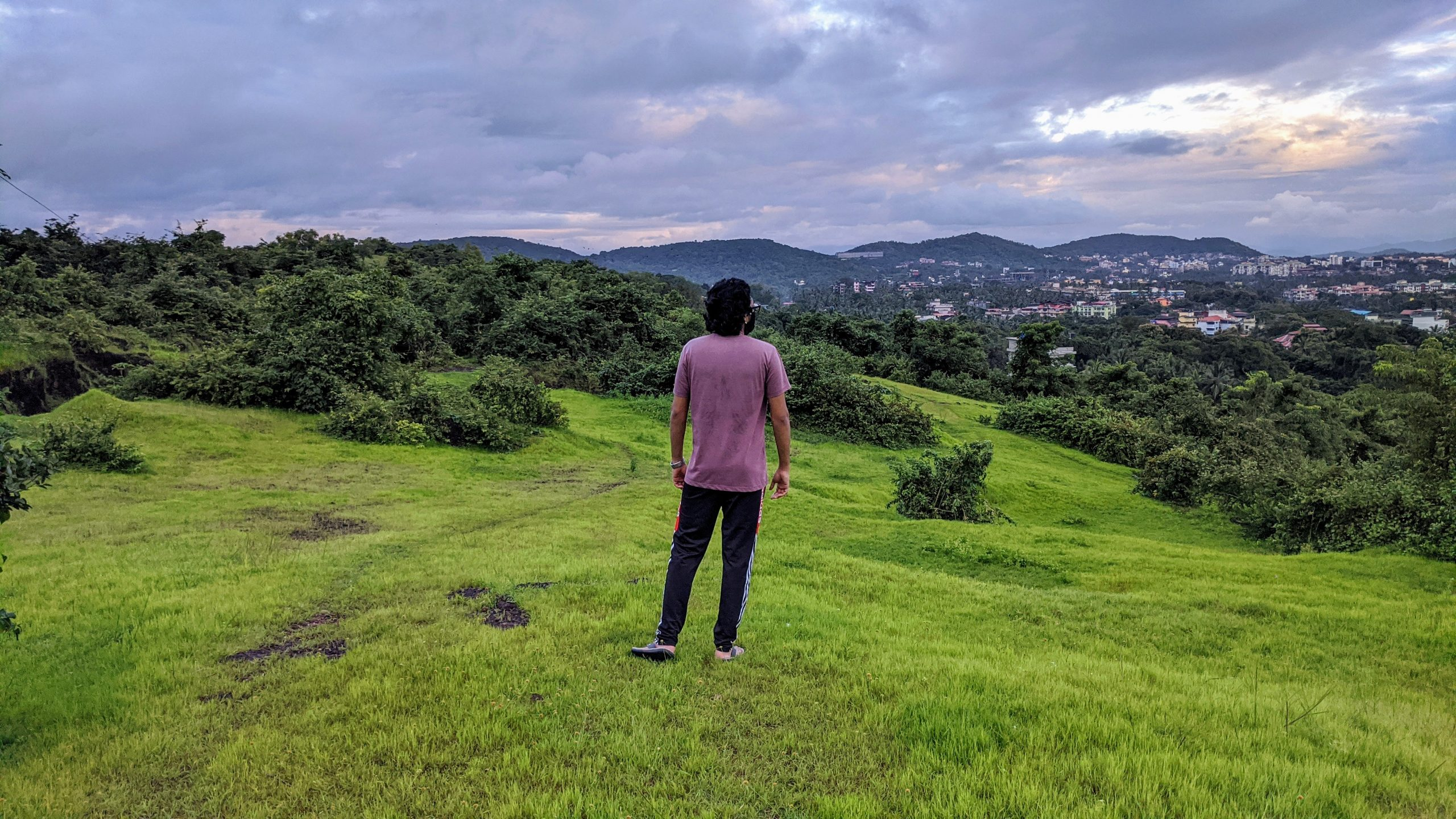 A man in a valley