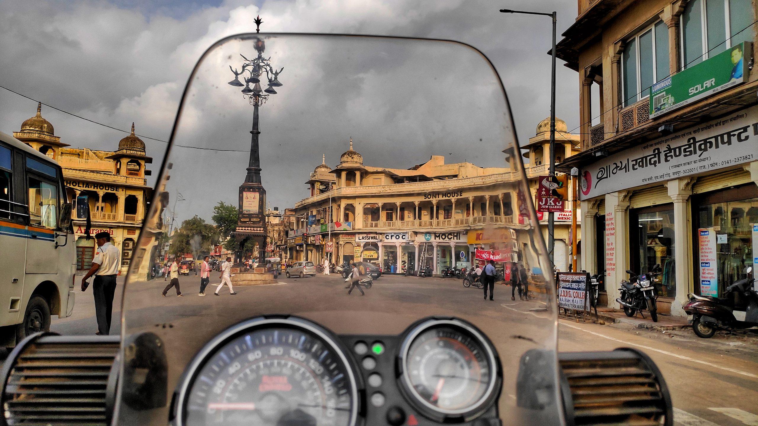 A rider travelling Jaipur