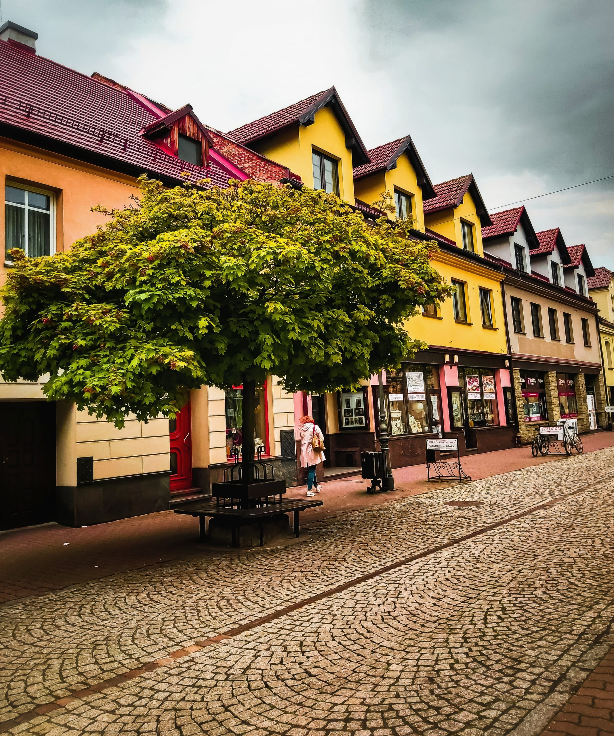 A street of a town in Poland