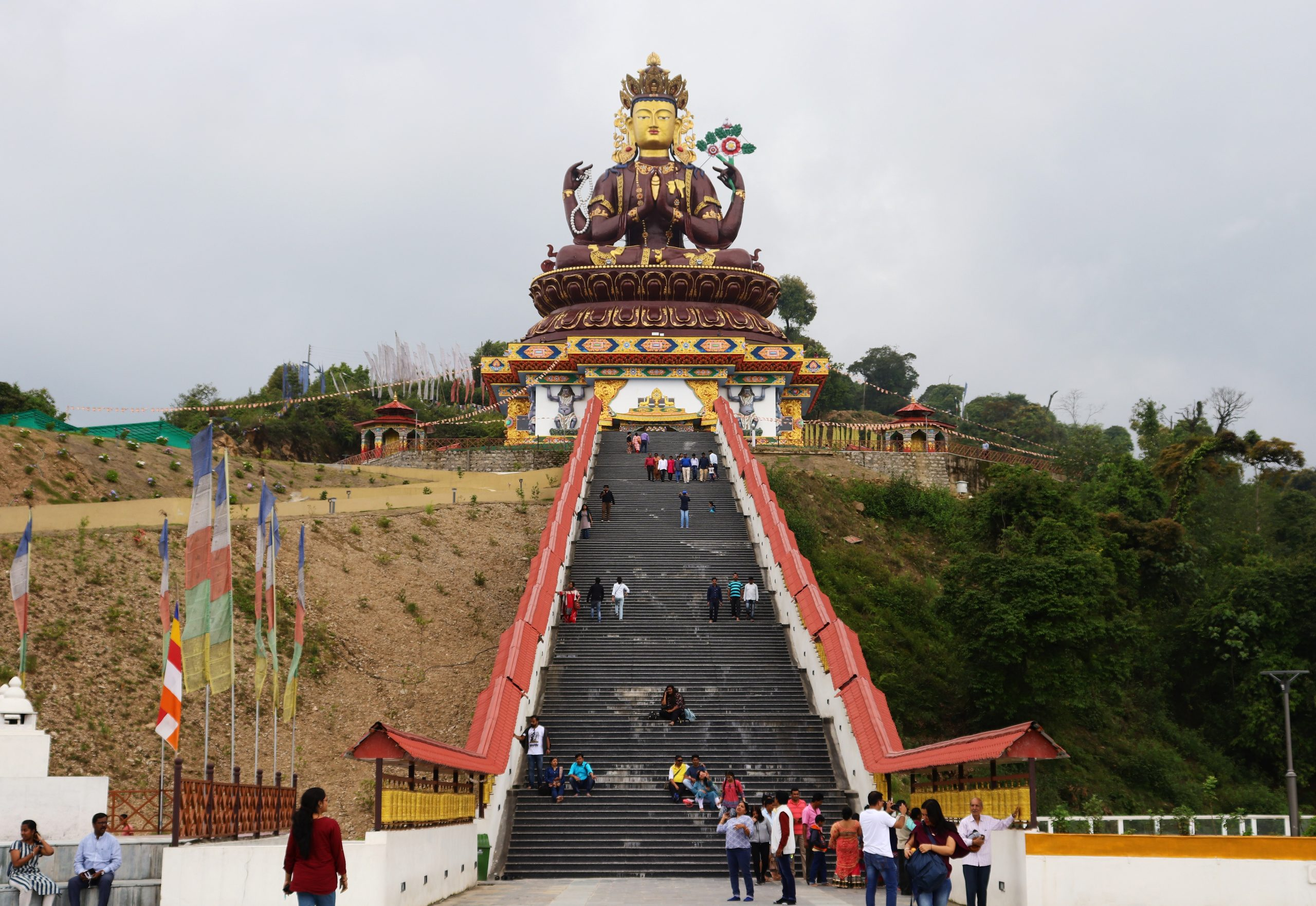 A temple on a hill