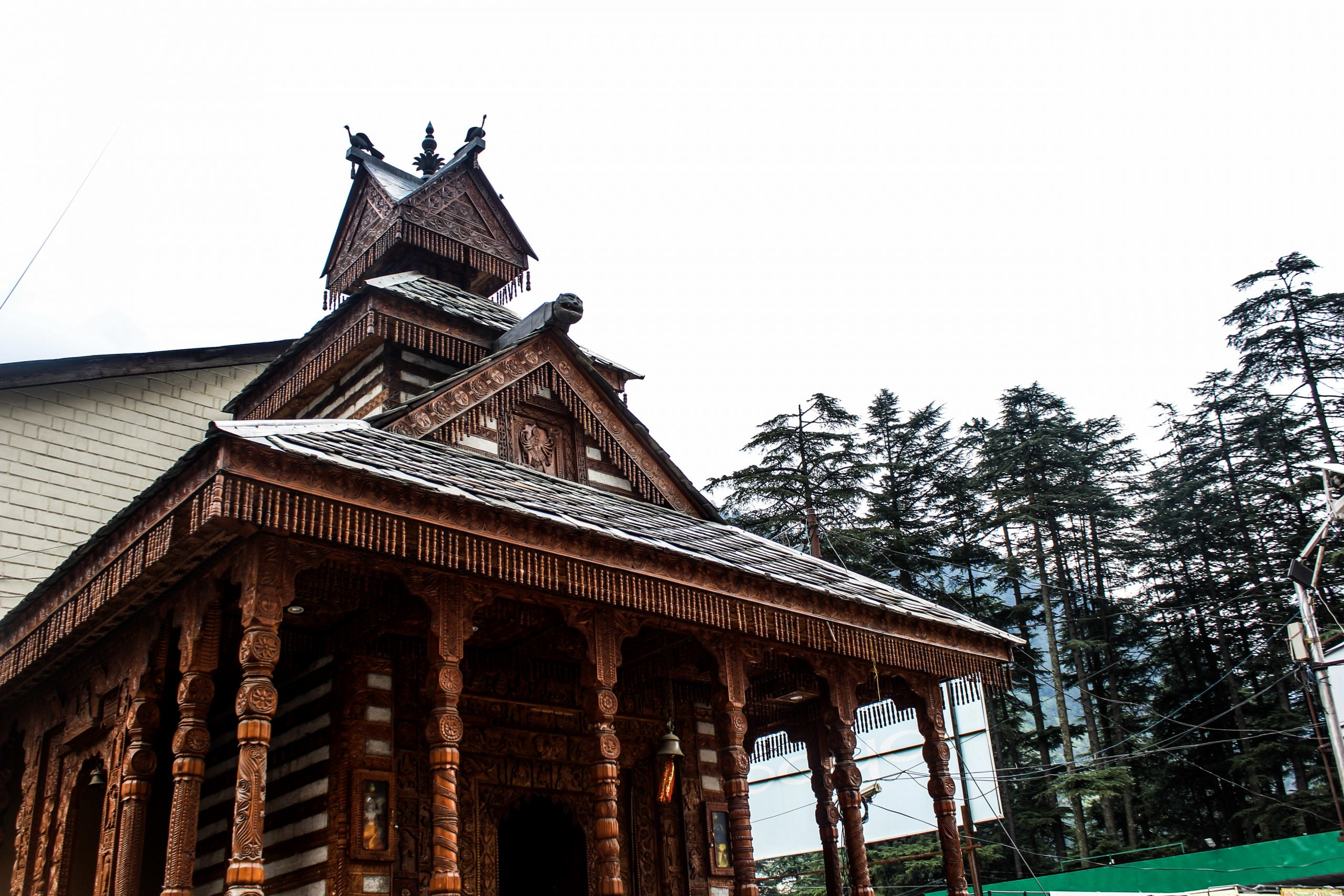 A wooden temple in Manali