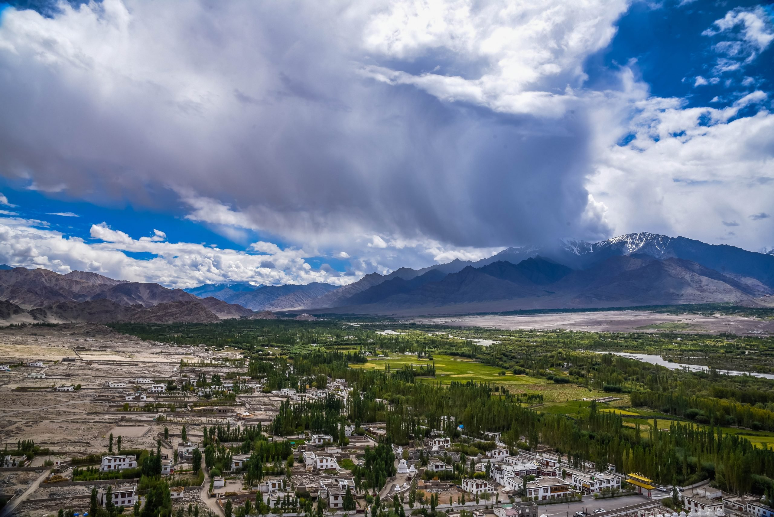Aerial Shot of Ladakh