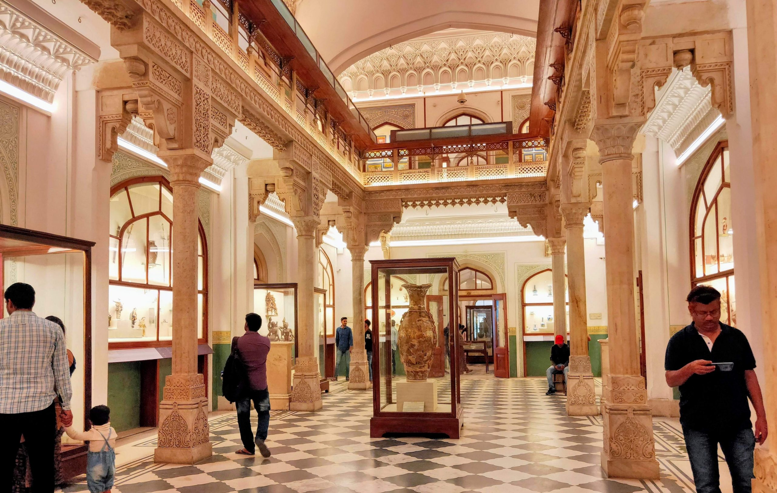 Interior of Albert Hall Museum in Rajasthan.